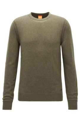 'Albonon' | Cotton-Virgin Wool Blend Sweater, Dark Green