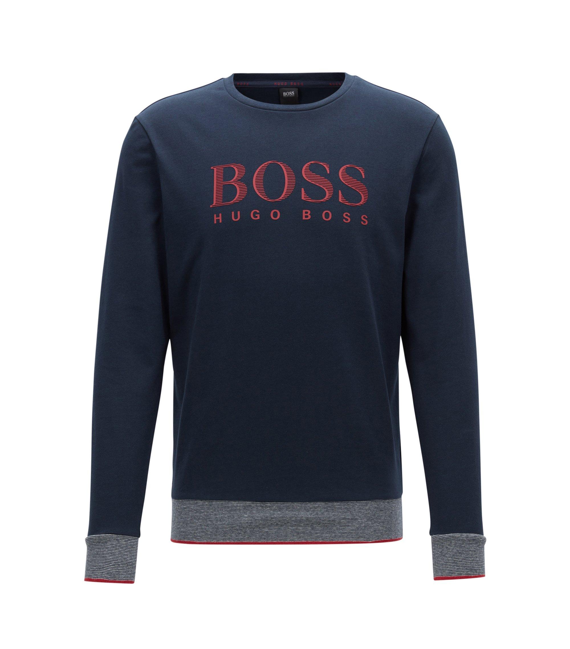 'Sweatshirt RN' | Cotton Logo Sweatshirt, Dark Blue