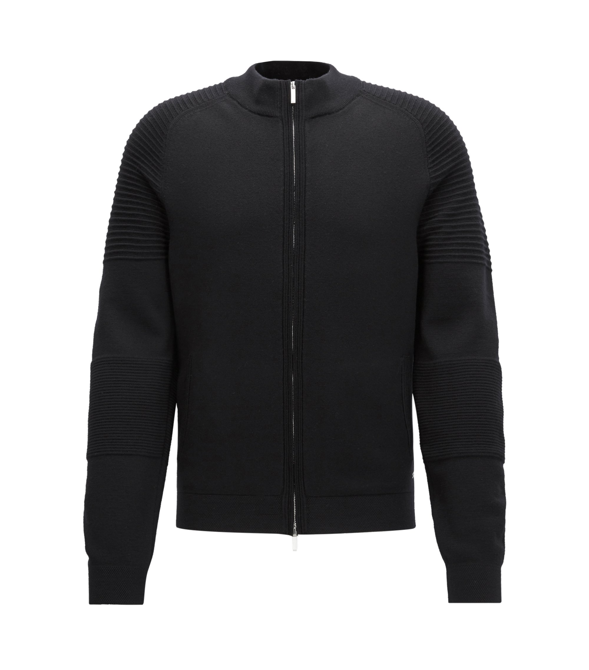 Mercedes-Benz Virgin Wool Full-Zip Jacket | Nadori, Black