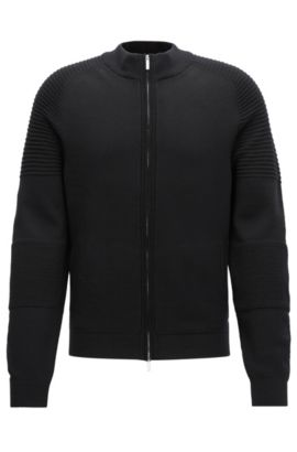 'Nadori' | Mercedes-Benz Virgin Wool Full-Zip Jacket, Black
