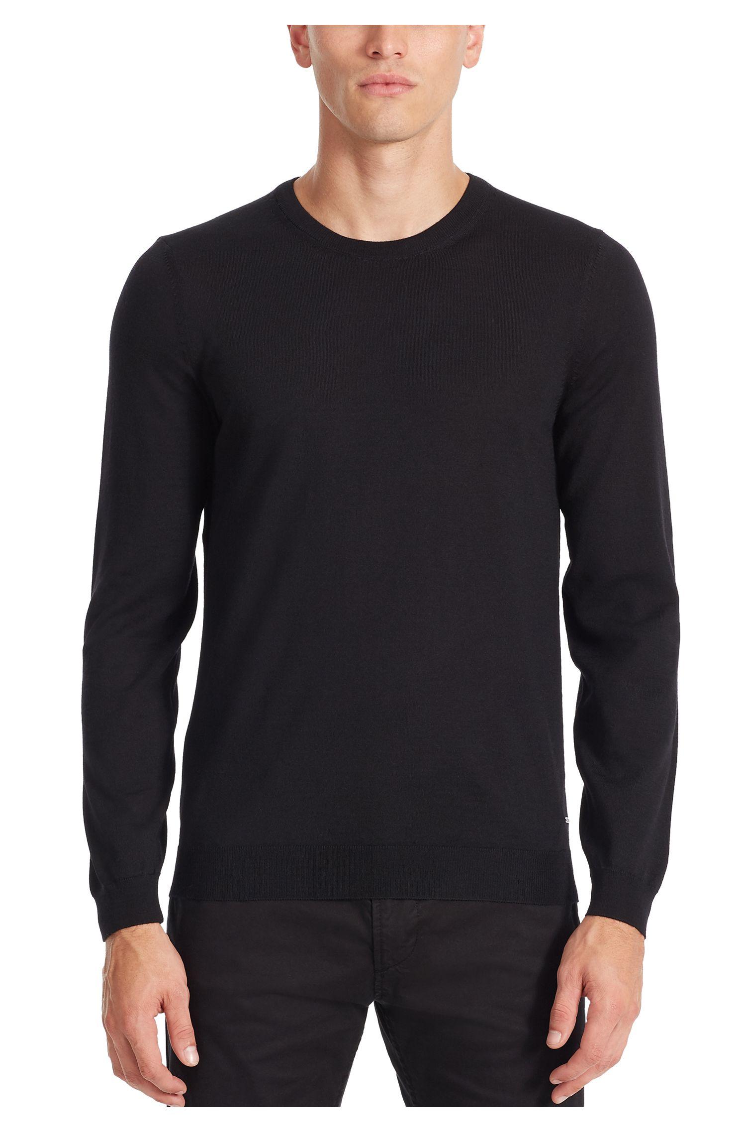 Extra-Fine Merino Wool Sweater | Leno N, Black