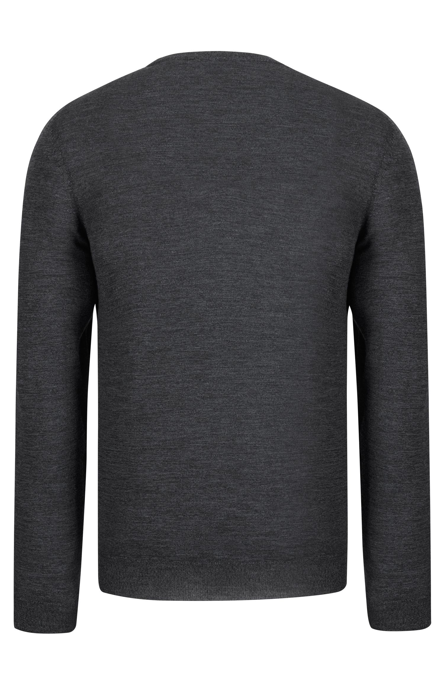 Extra-Fine Merino Wool Sweater | Leno N, Black