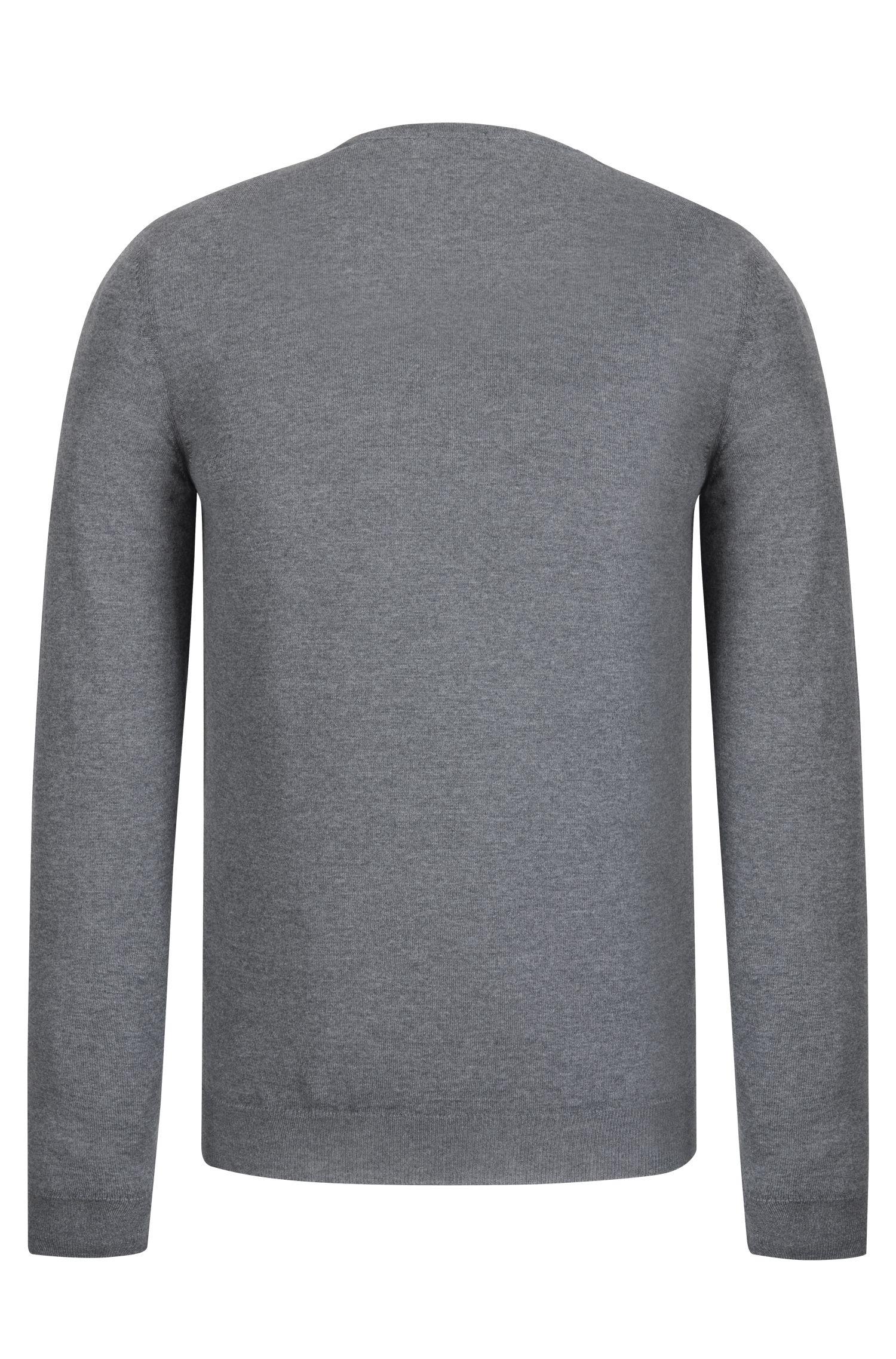 Extra-Fine Merino Wool Sweater   Leno N, Grey
