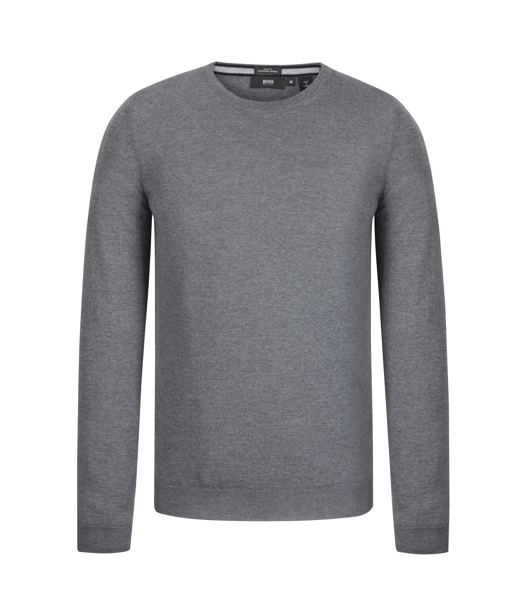Extra-Fine Merino Wool Sweater | Leno N, Grey