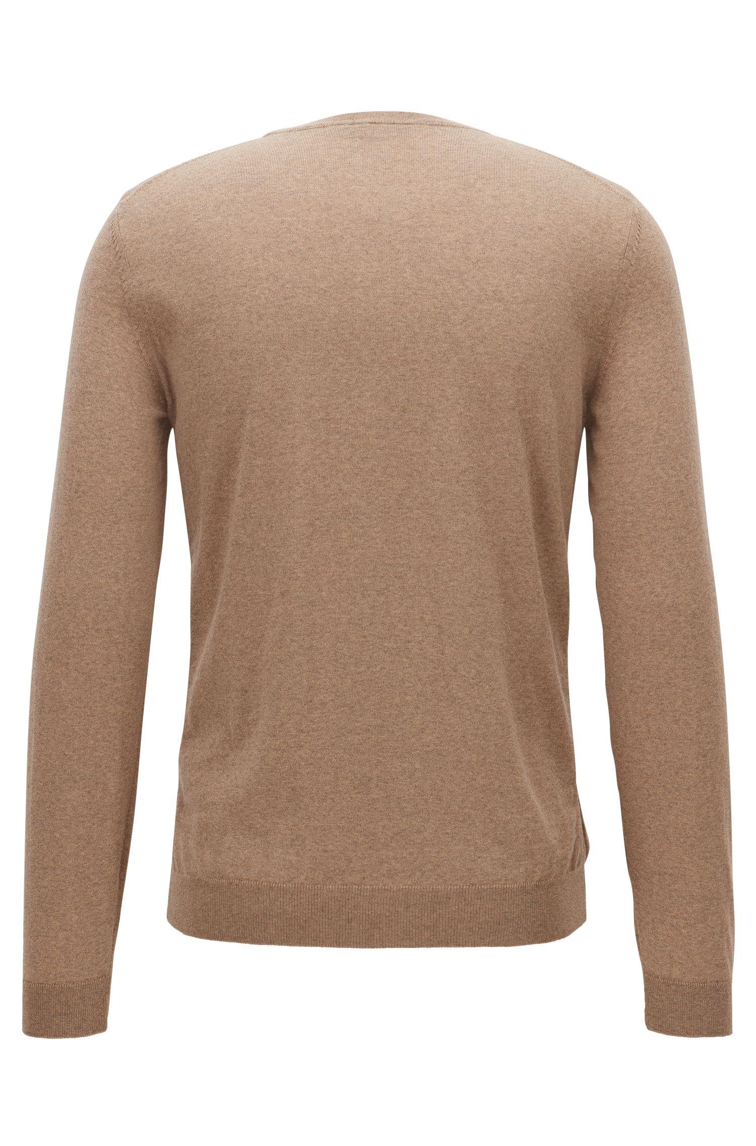 Extra-Fine Merino Wool Sweater | Leno N, Khaki