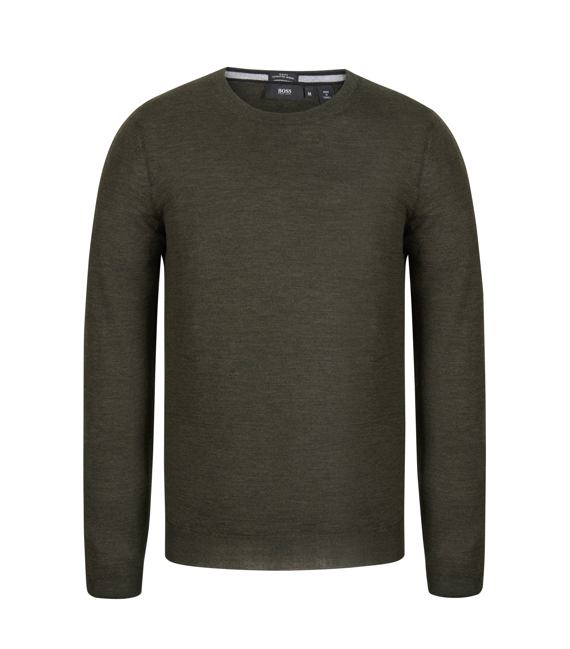 Extra-Fine Merino Wool Sweater | Leno N, Open Green