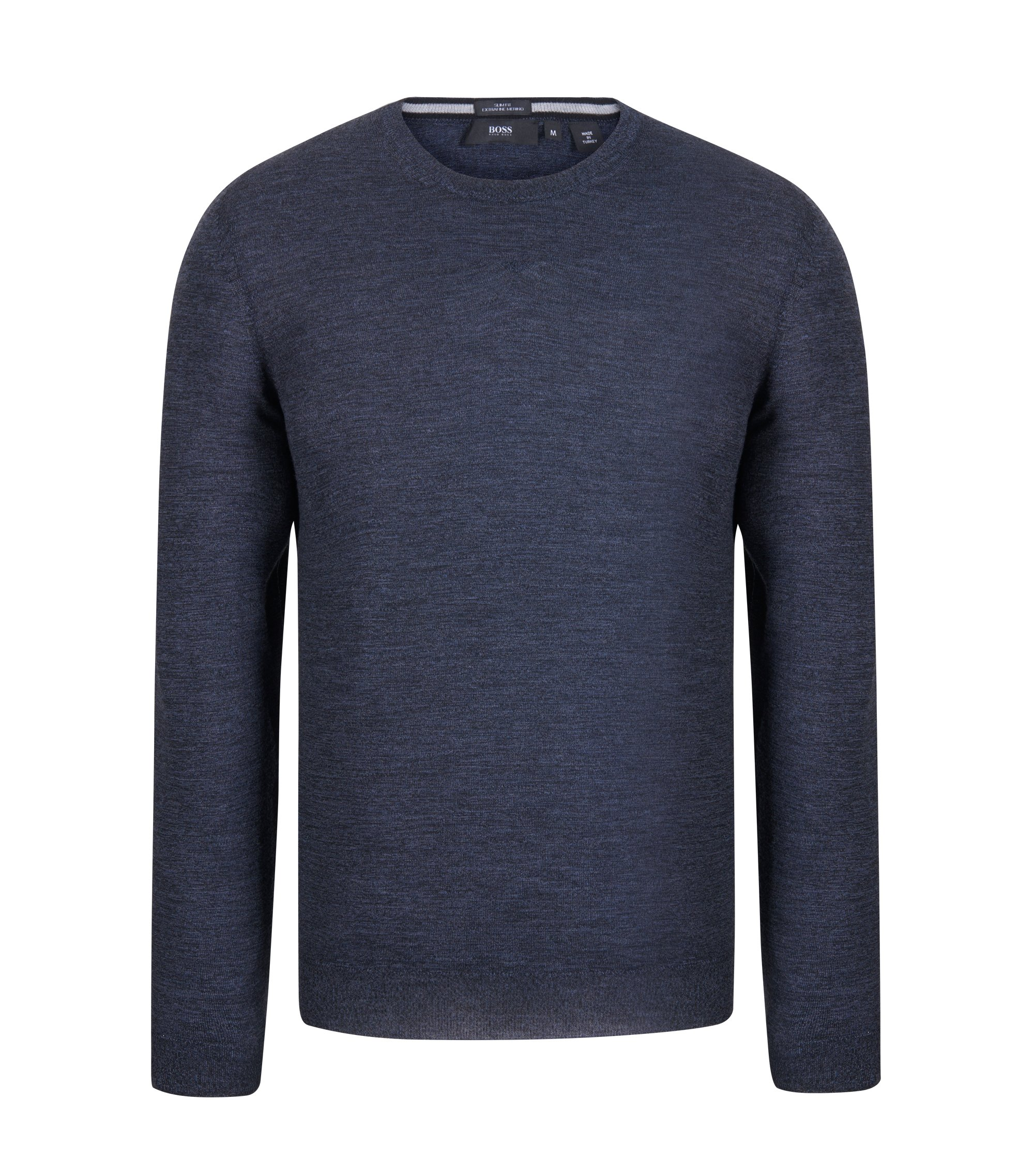 Extra-Fine Merino Wool Sweater | Leno N, Dark Blue