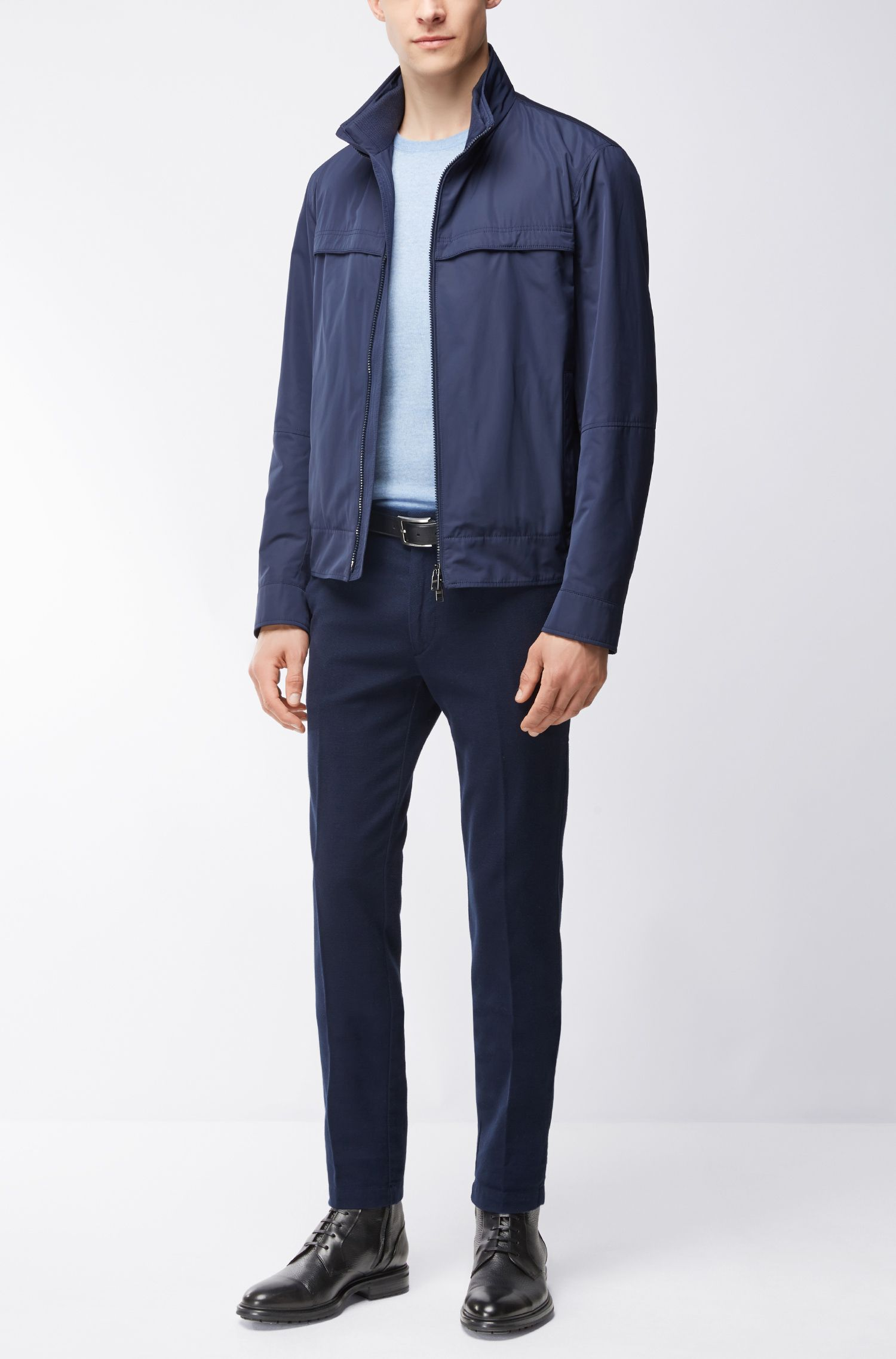 Extra-Fine Merino Wool Sweater | Leno N, Dark Blue