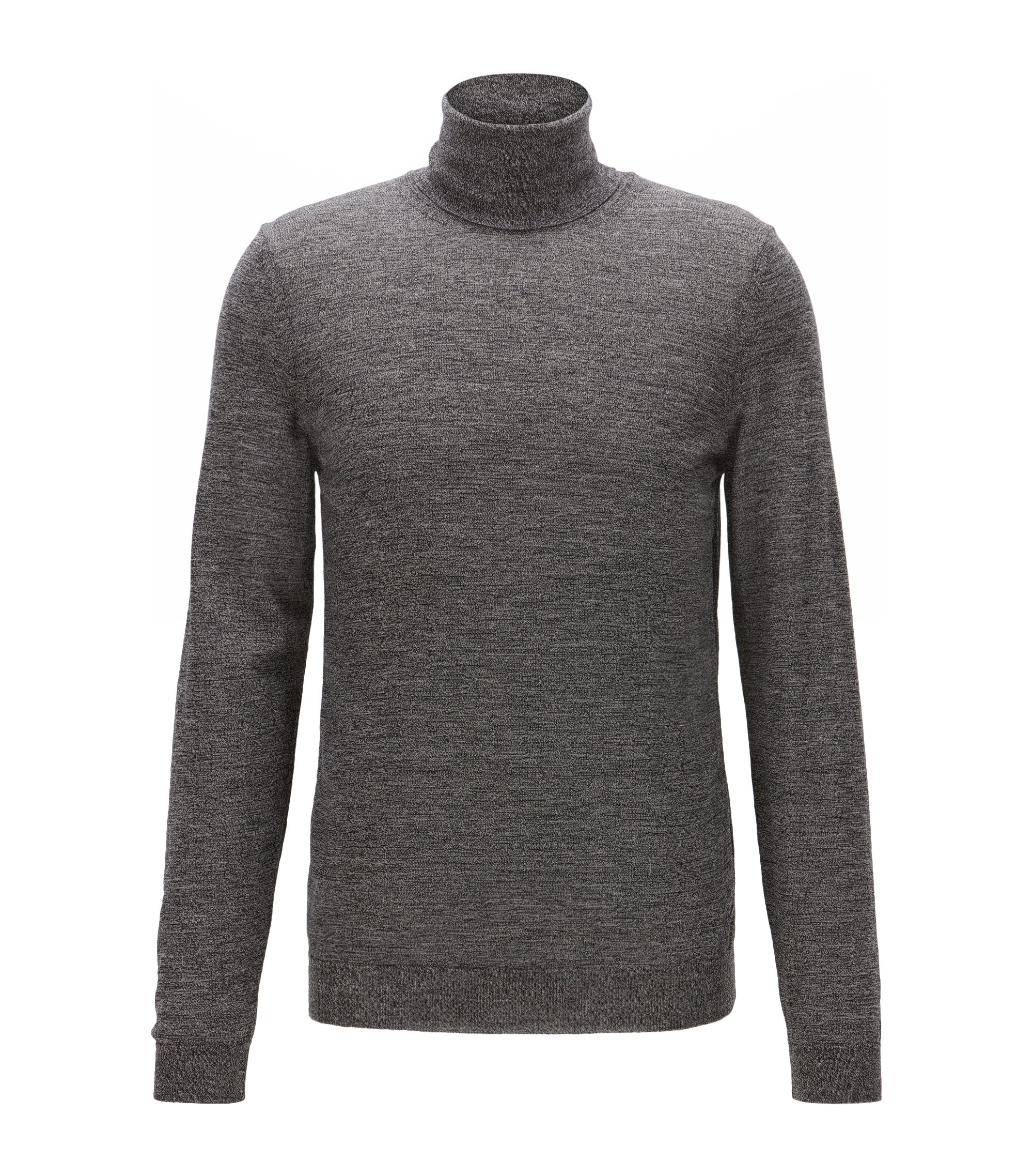 Merino Wool Turtleneck Sweater | Musso N, Grey