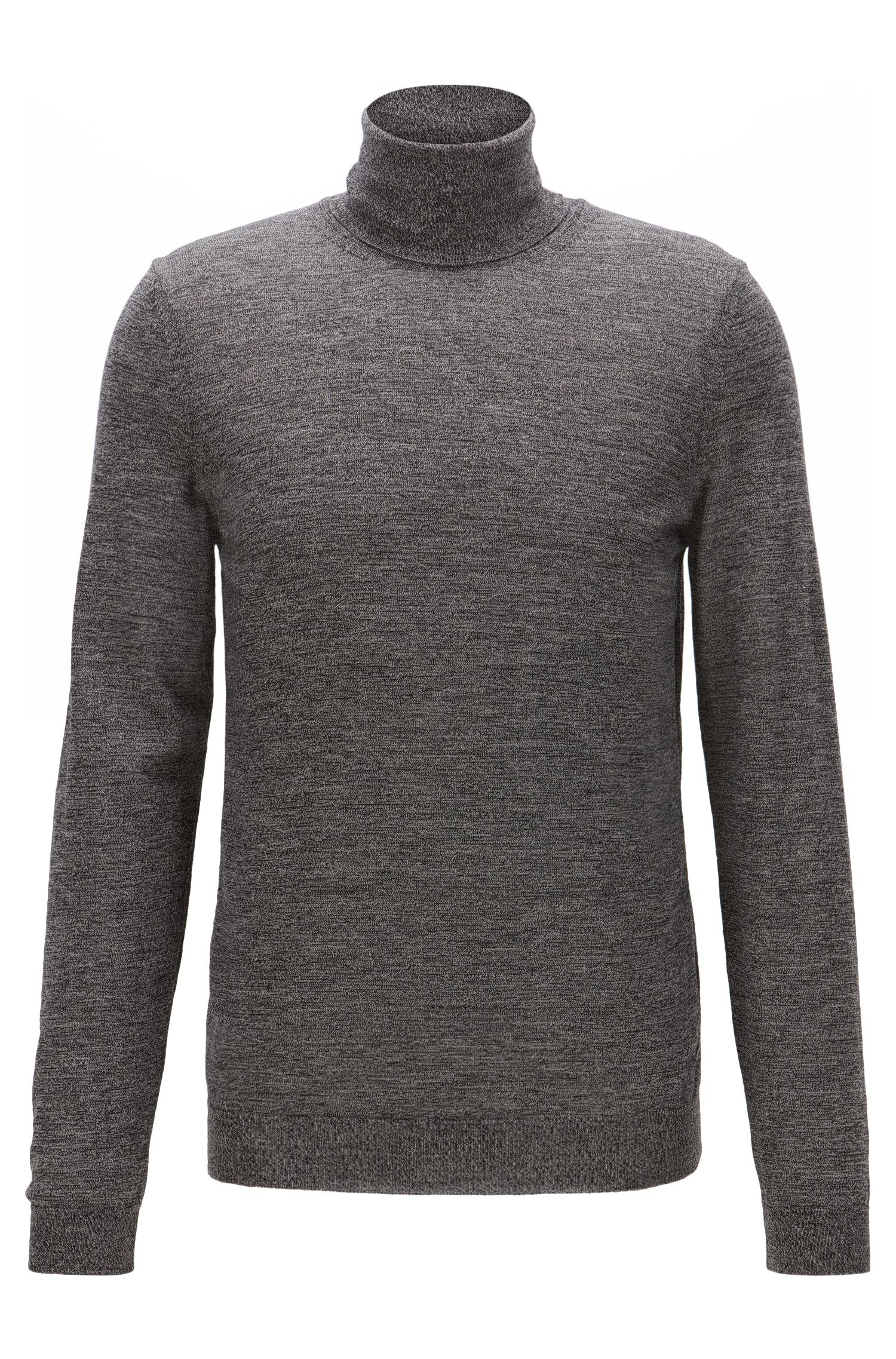 Merino Wool Turtleneck Sweater | Musso N