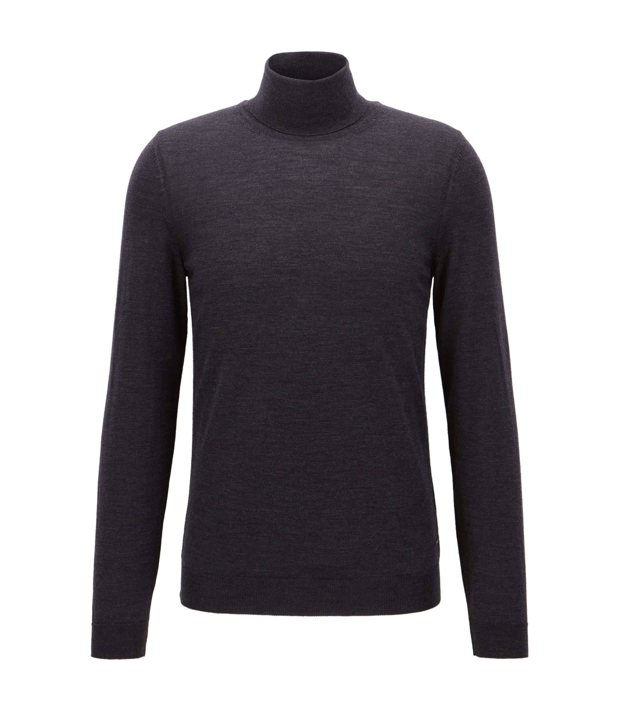 Merino Wool Turtleneck Sweater | Musso N, Open Grey