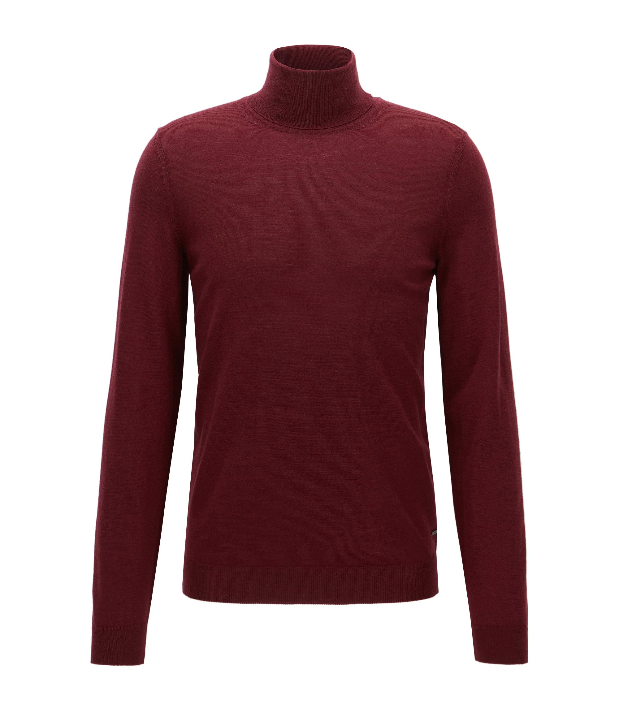 Merino Wool Turtleneck Sweater | Musso N, Dark Red
