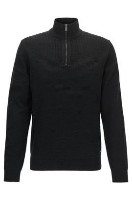 Waffle-Knit Virgin Wool Sweater | Nacello, Black