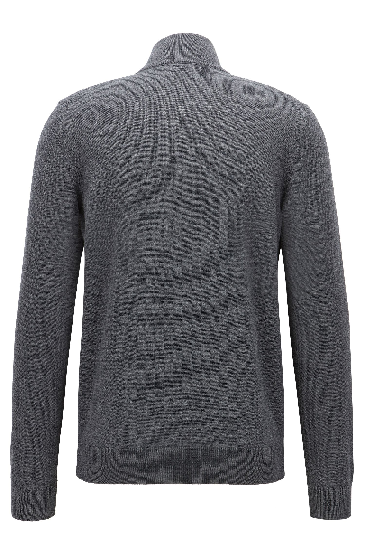 Waffle-Knit Virgin Wool Sweater | Nacello, Grey