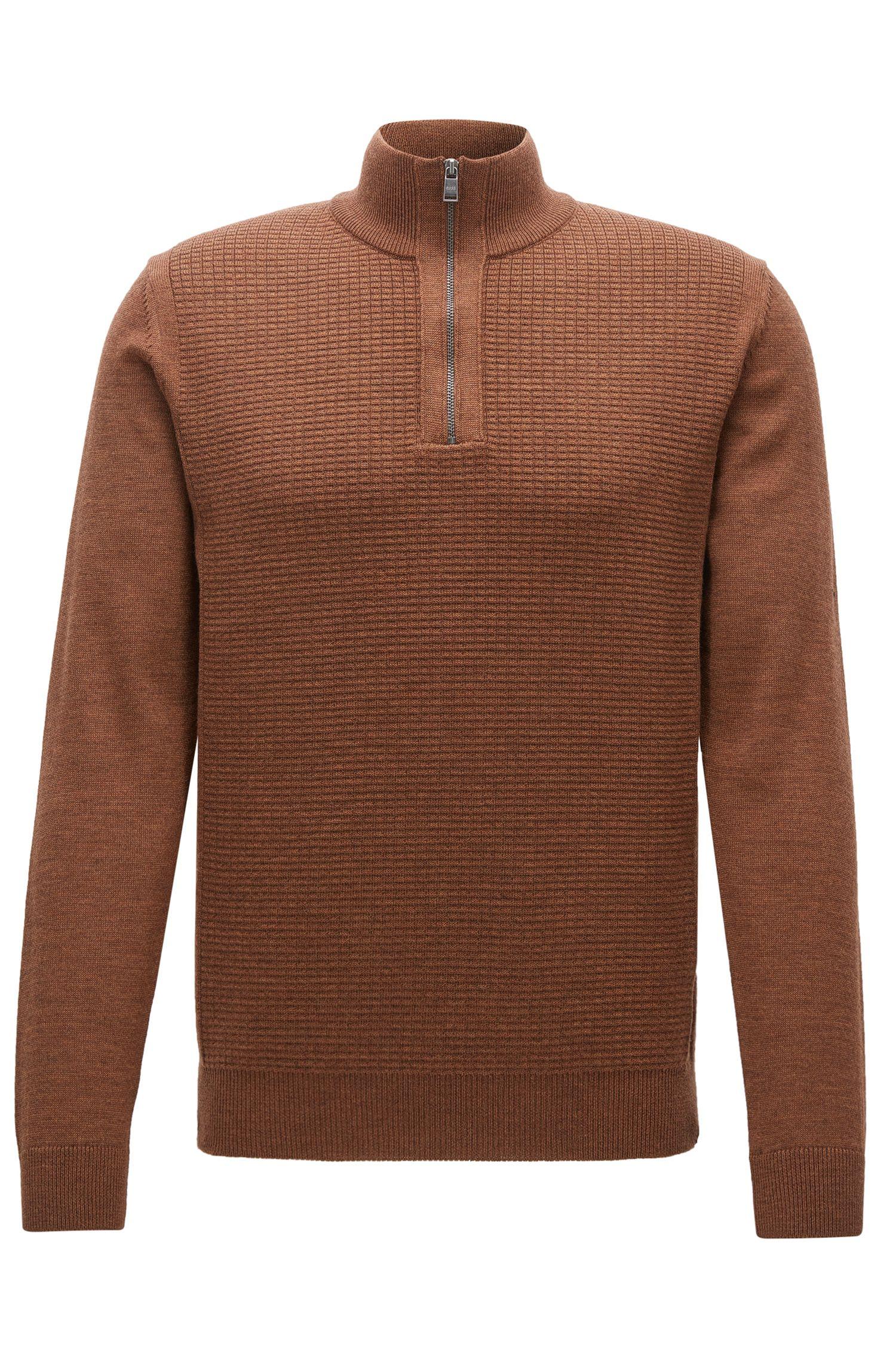 Waffle-Knit Virgin Wool Sweater | Nacello