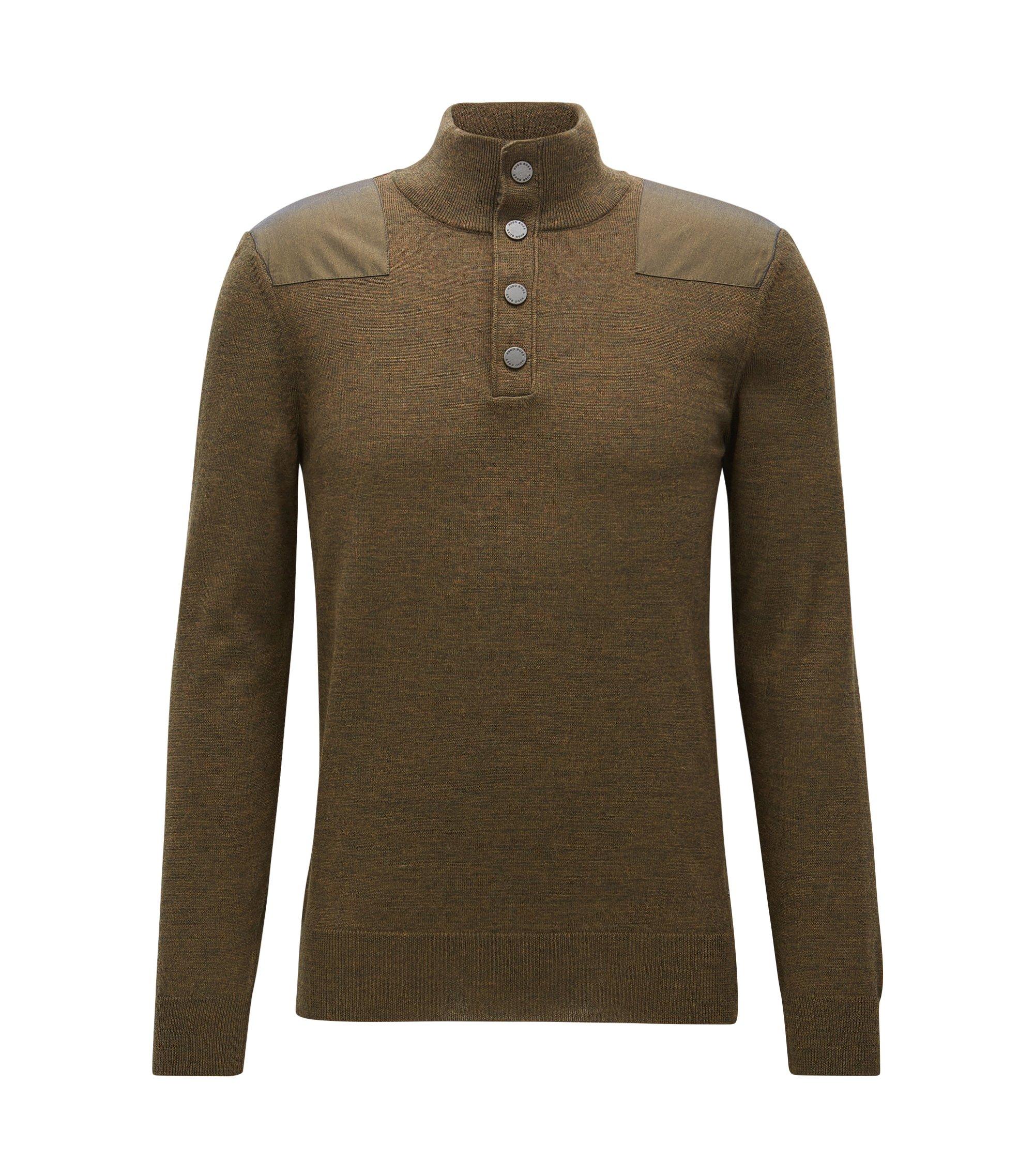 Extra-Fine Merino Wool Sweater | Novellino, Open Green