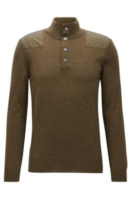 Extra-Fine Merino Wool Sweater | Novellino, Open Green