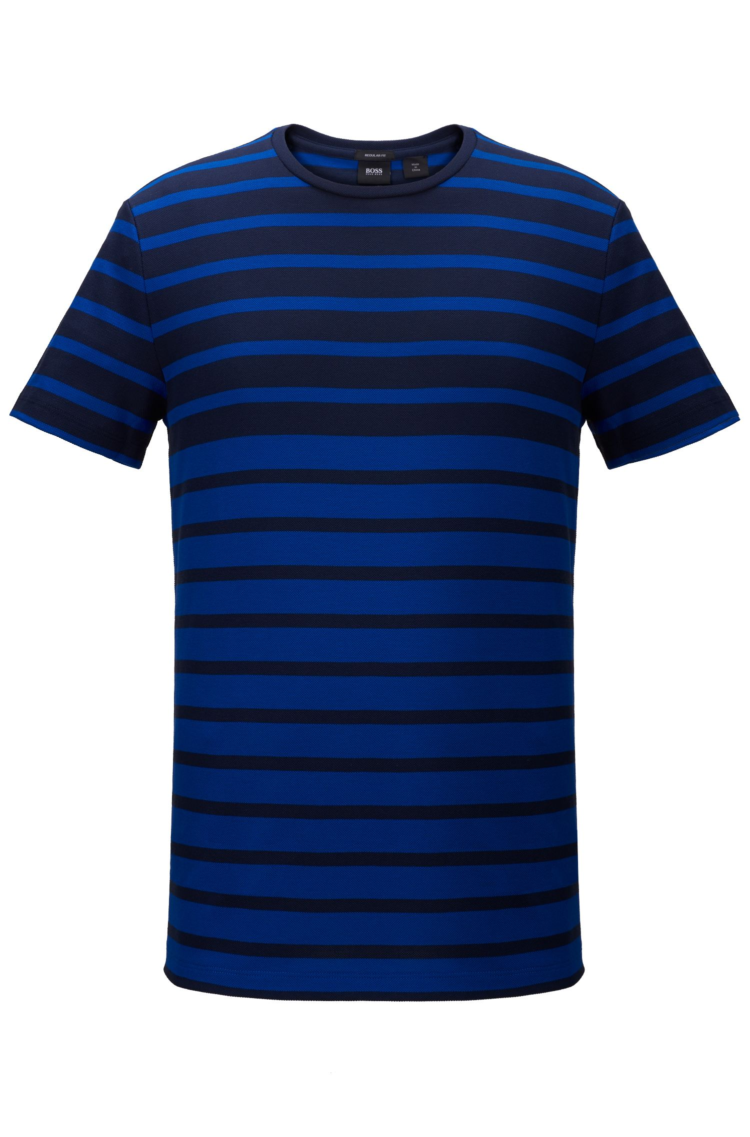 Striped Cotton T-Shirt | Tiburt