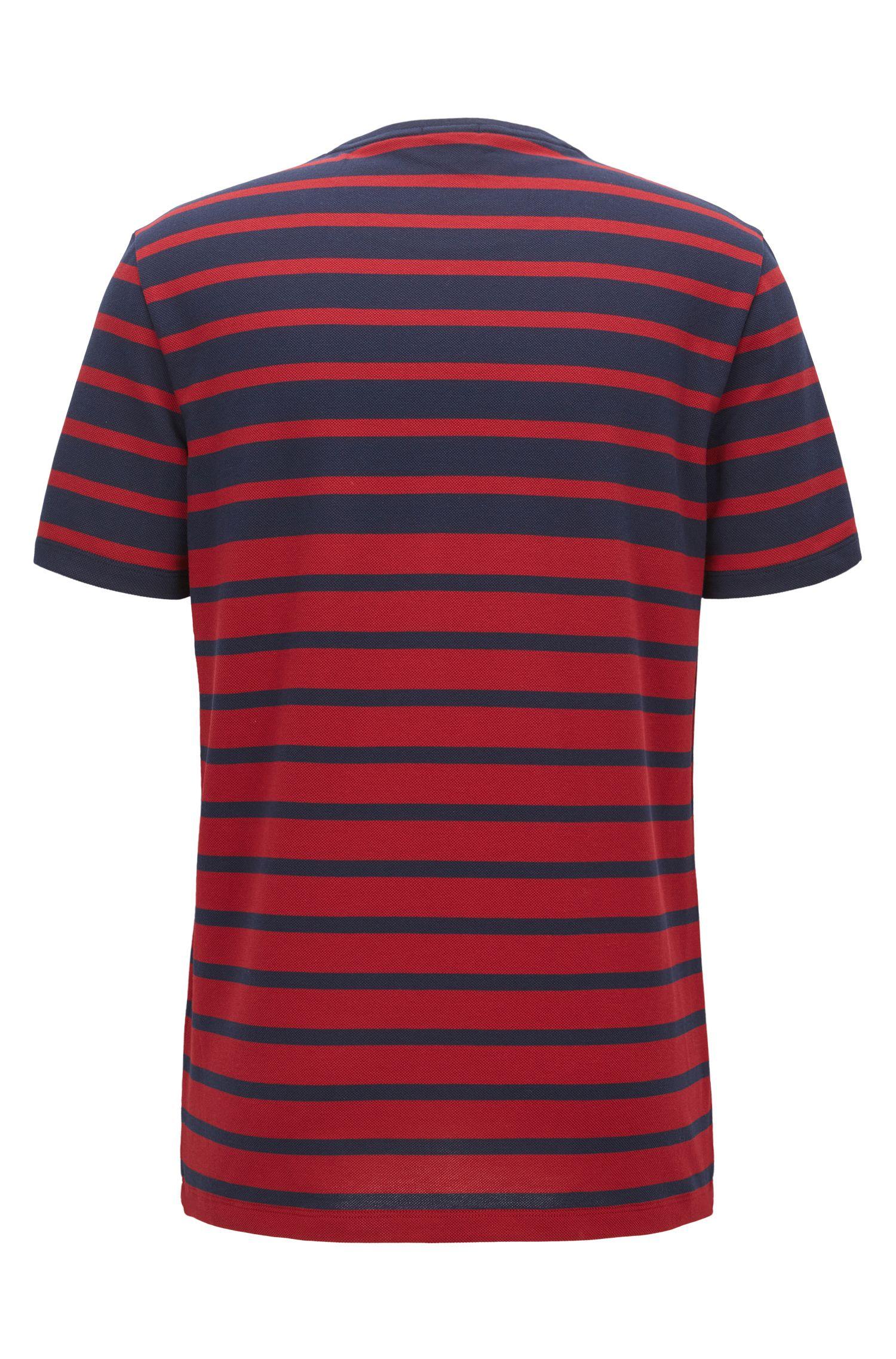 Striped Cotton T-Shirt | Tiburt