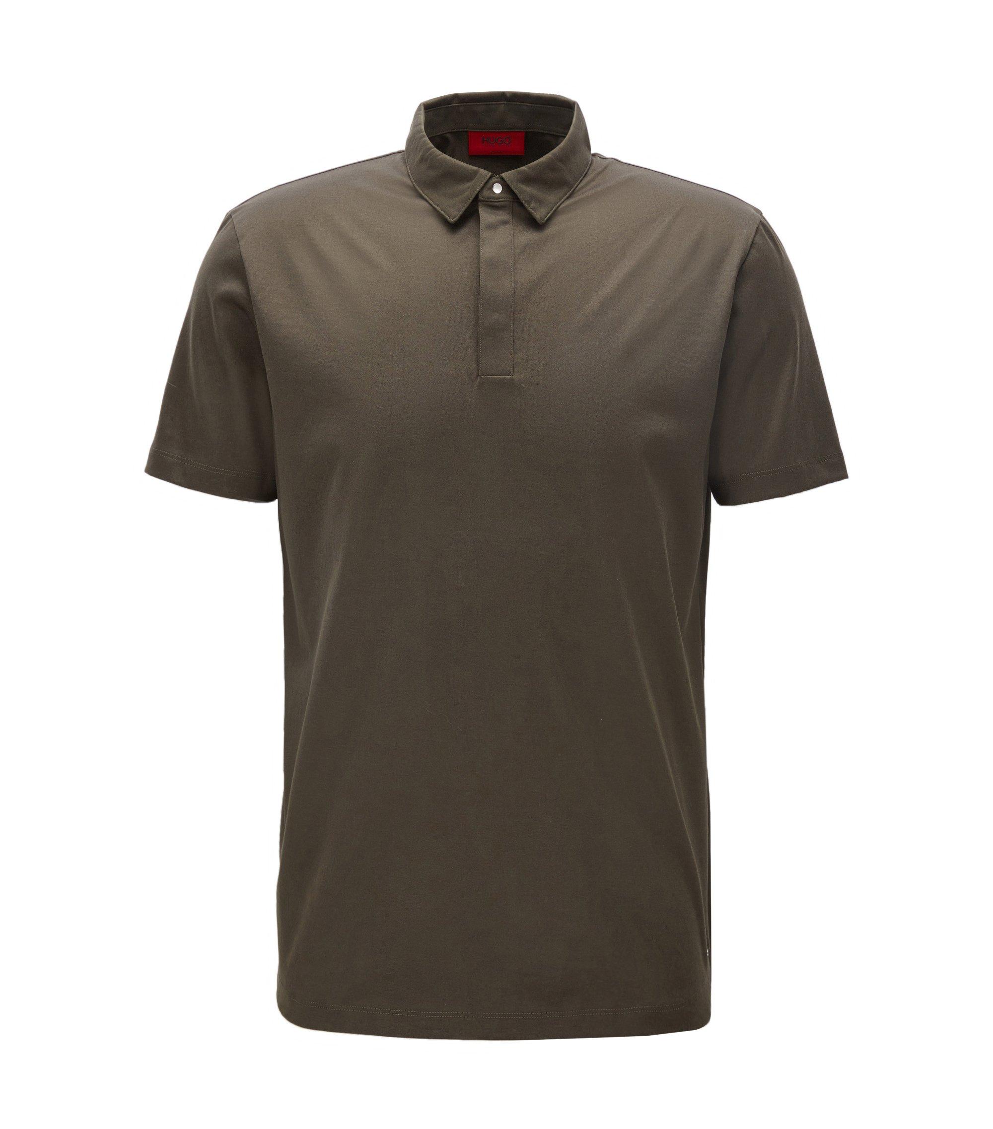 Cotton Polo Shirt, Slim Fit   Diffords, Dark Green
