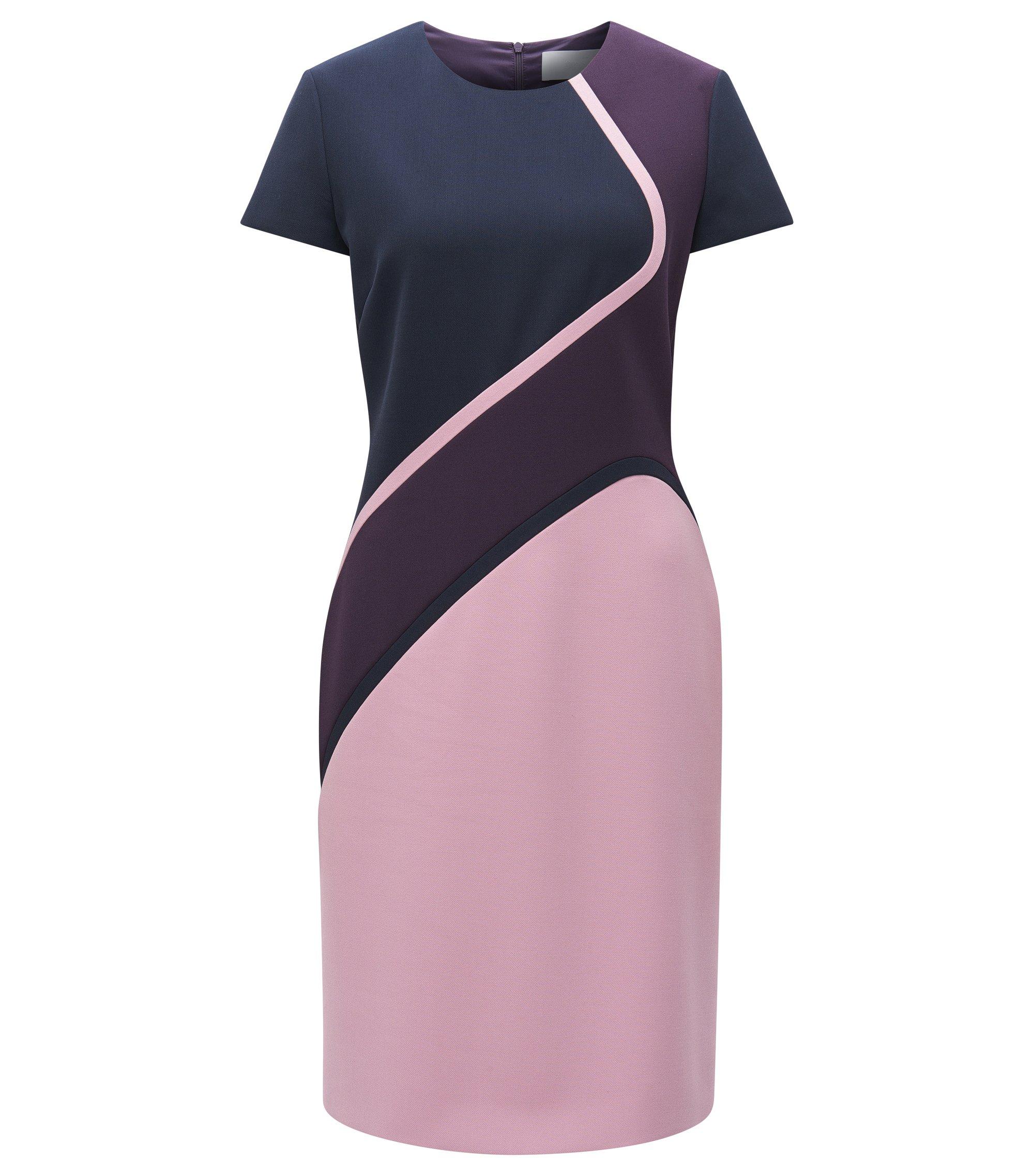 Colorblocked Stretch Viscose Dress | Dukatia, Dark Purple
