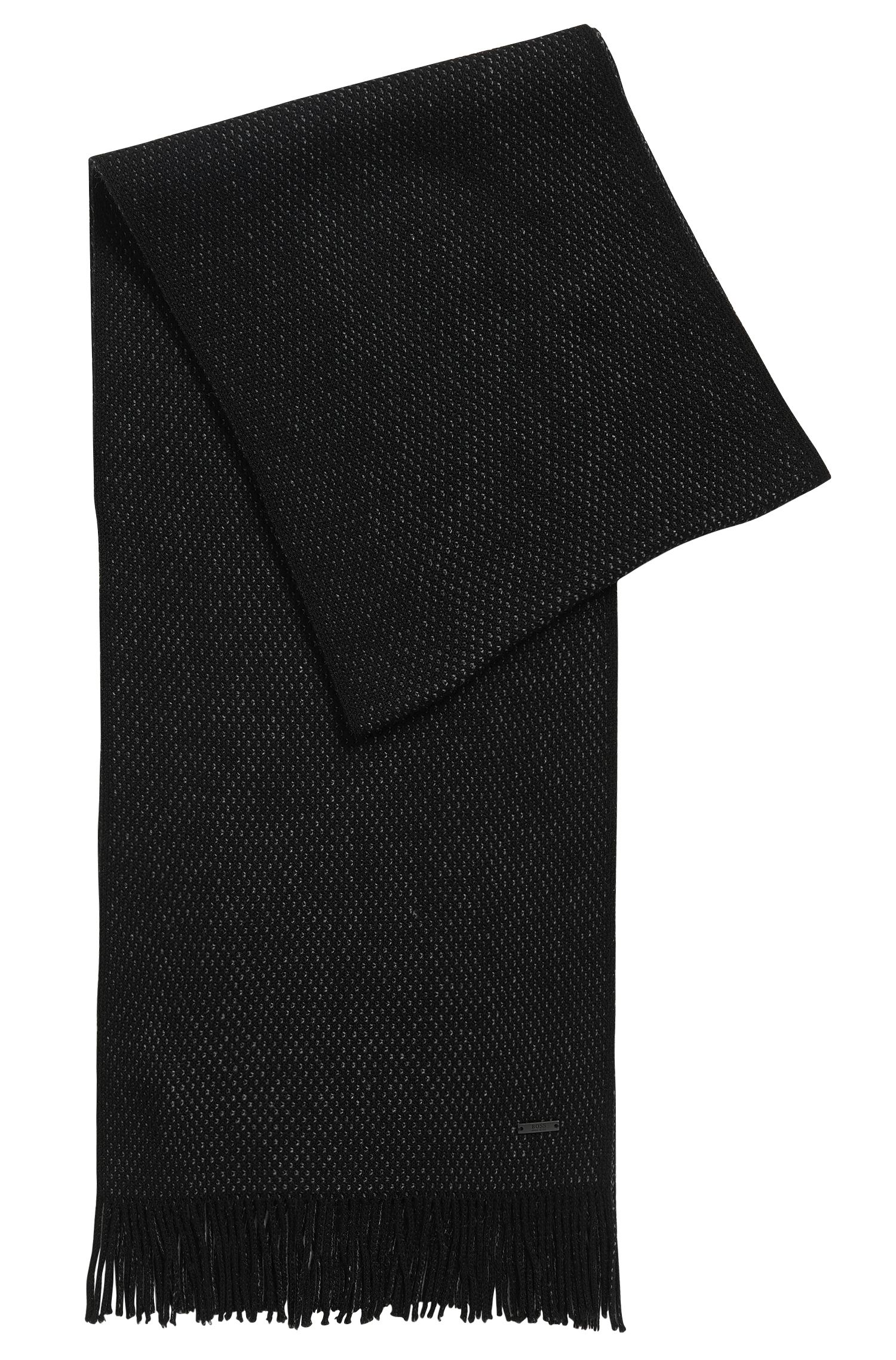 Warp-Knit Virgin Wool Scarf | Albas