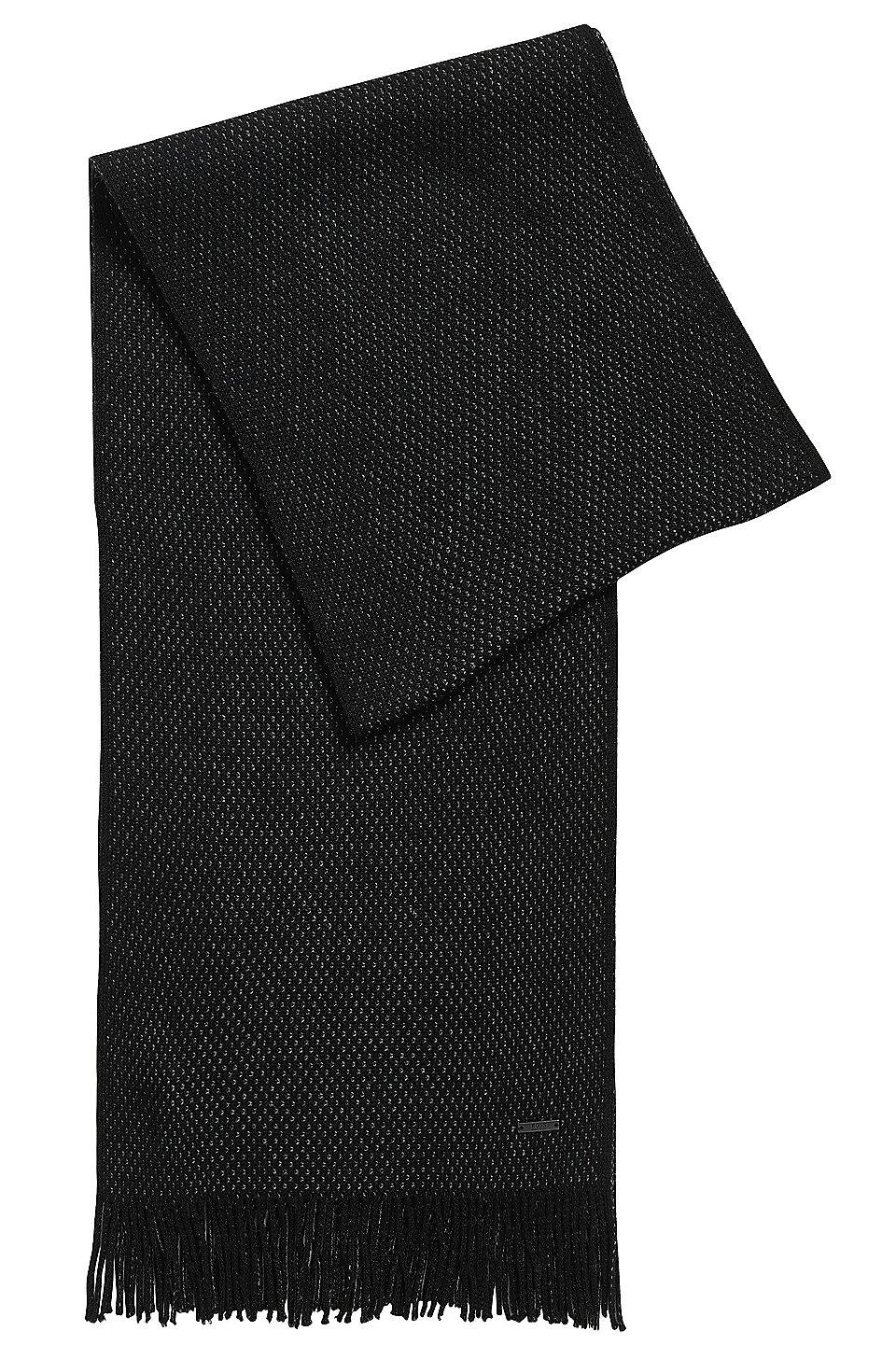 7c3caa35 BOSS - Warp-Knit Virgin Wool Scarf | Albas