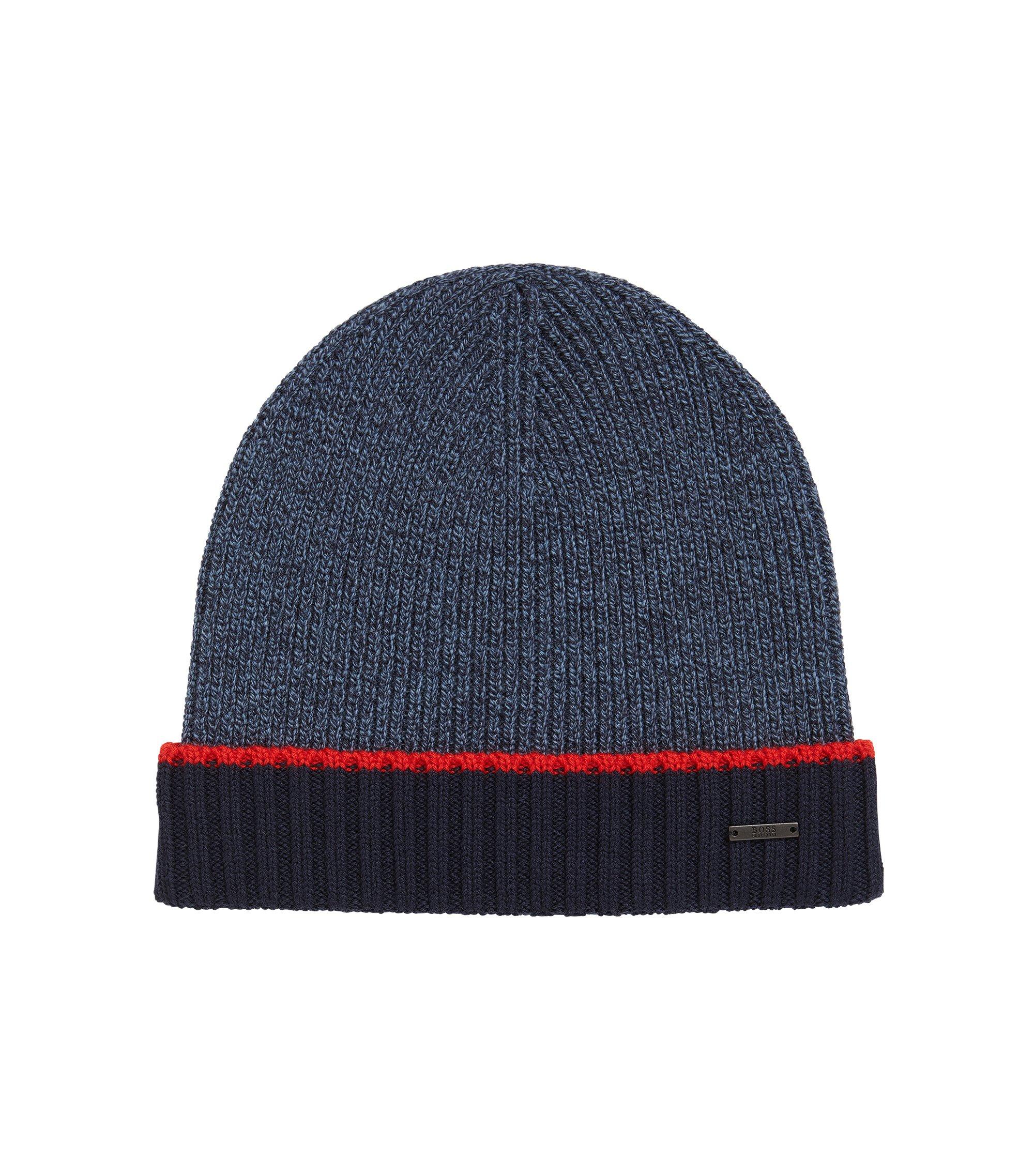 Virgin Wool Beanie | Frisk, Dark Blue