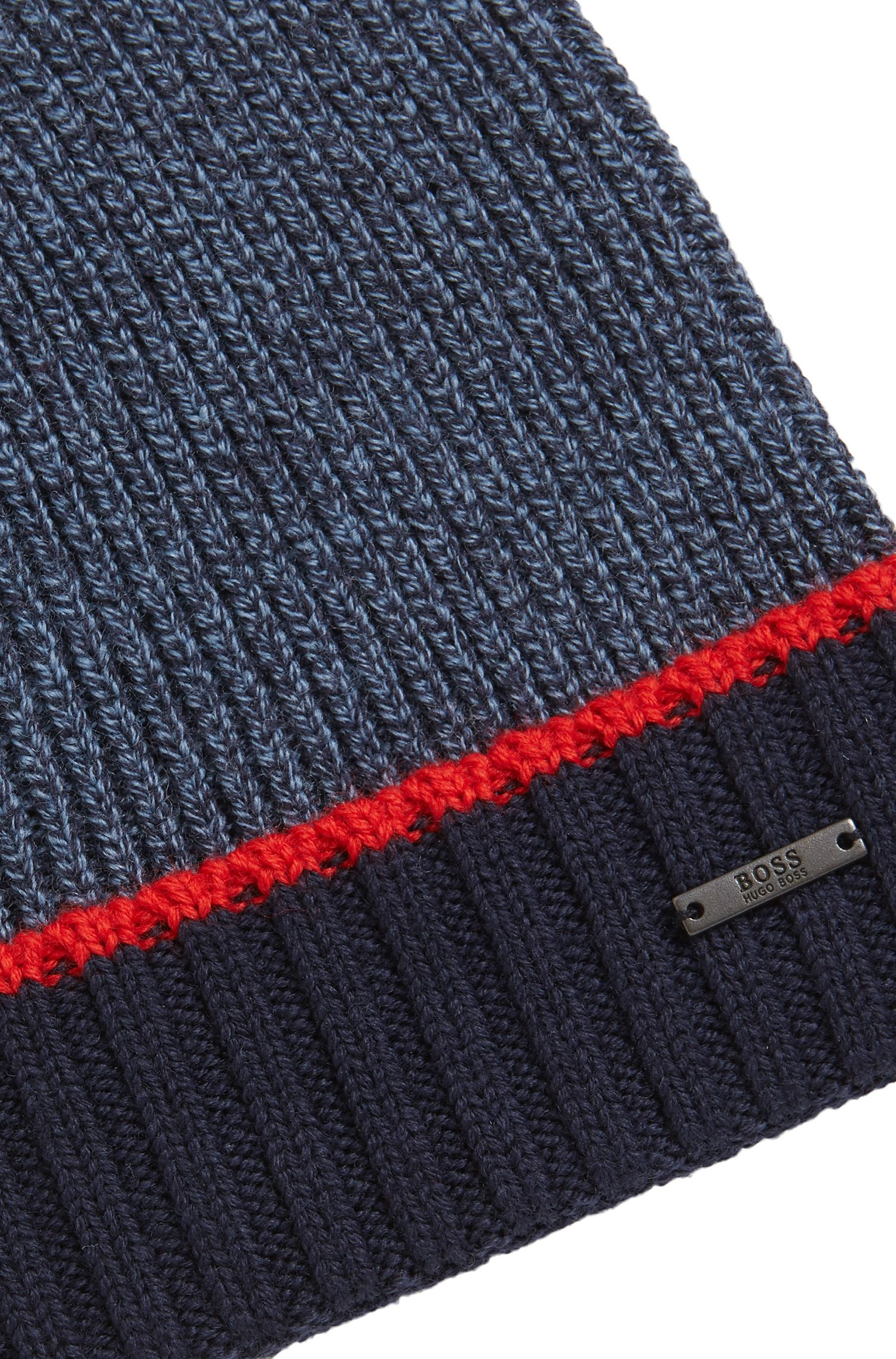 Virgin Wool Beanie | Frisk, Dark Blue
