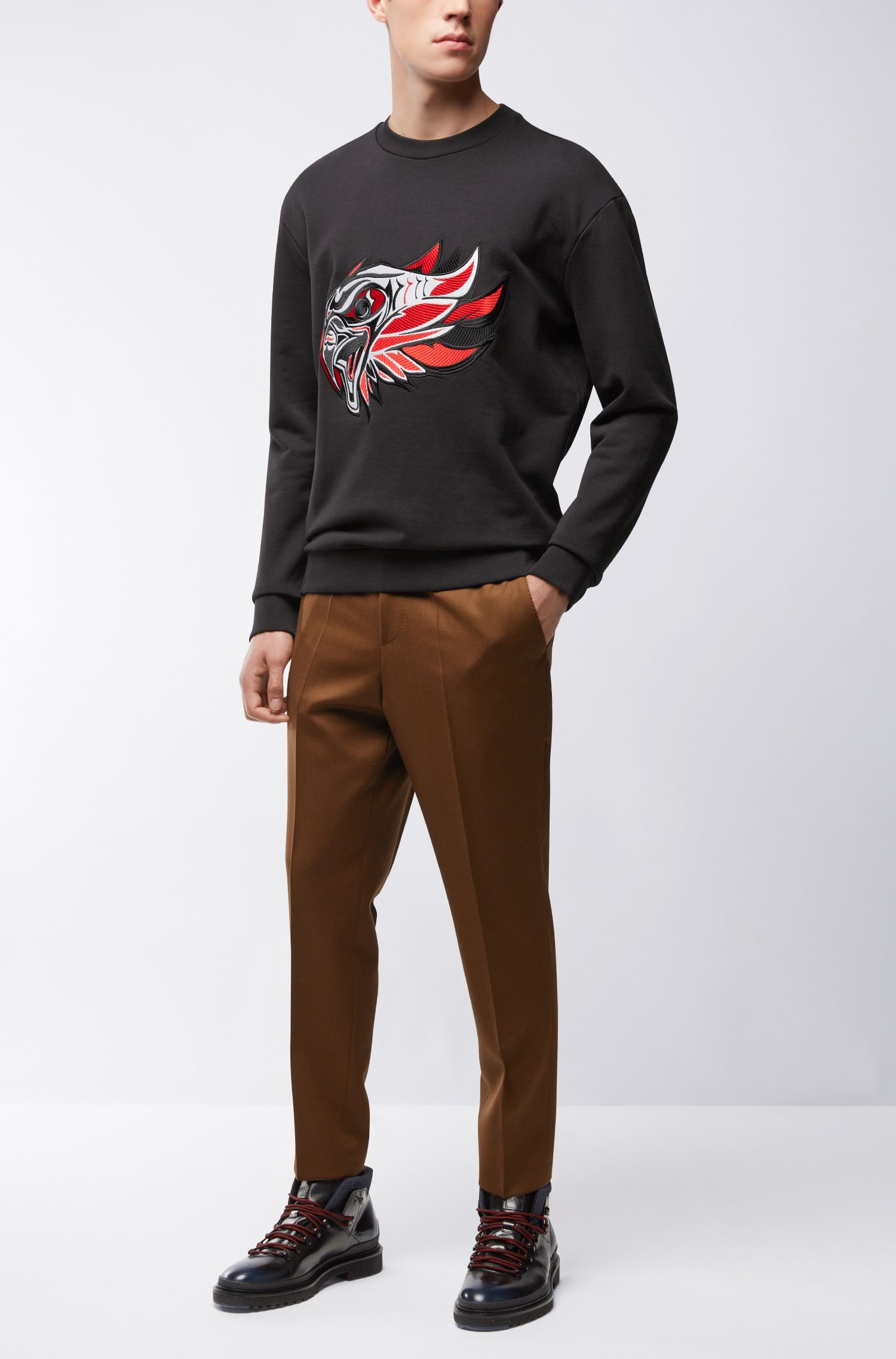 'Dohnsons' | Embroidered Cotton Sweatshirt