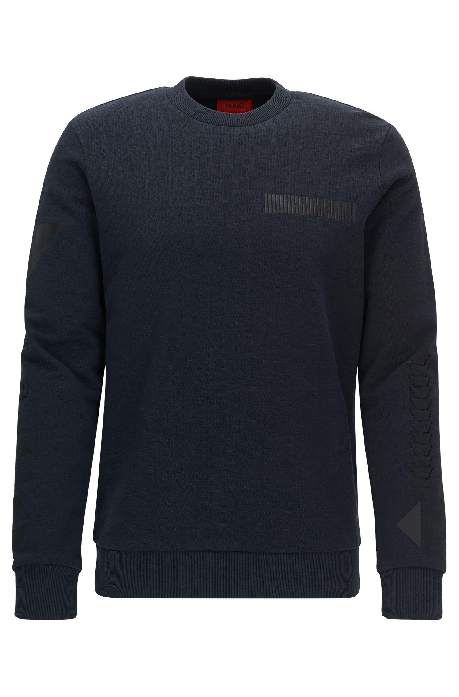 Printed Fleece Cotton Sweatershirt | Dopkins