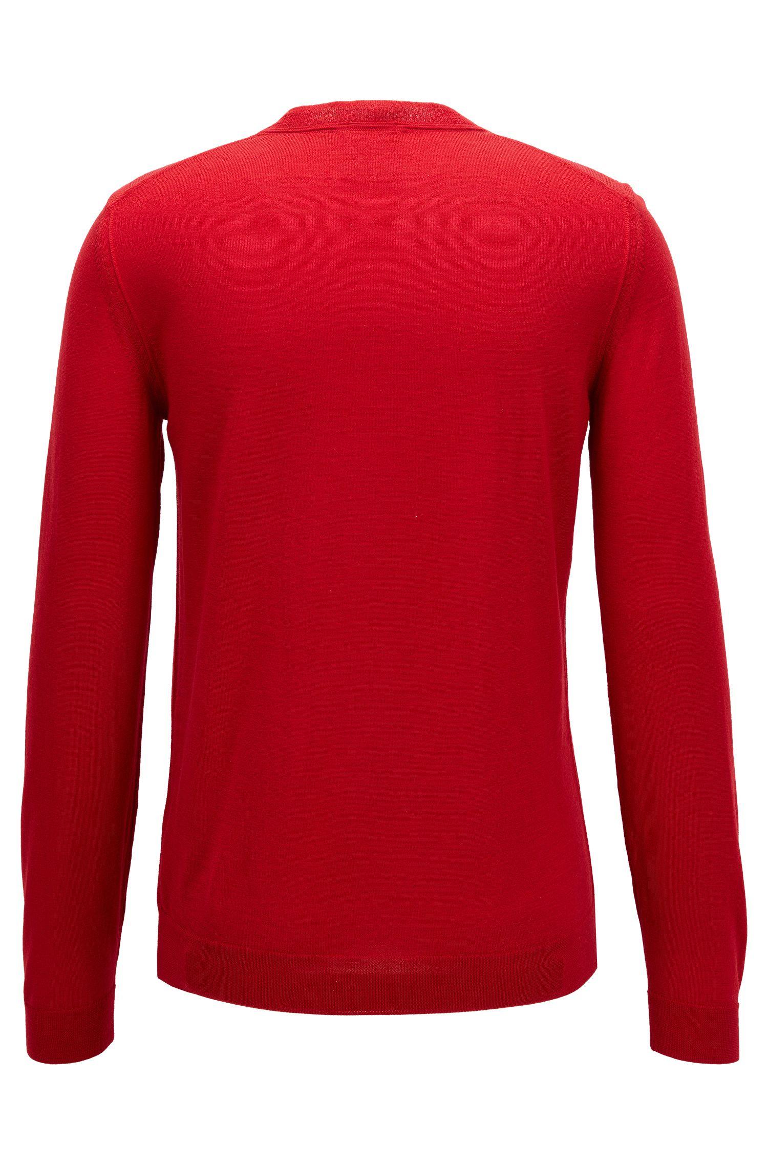 Virgin Wool-Silk Sweater | T-Ion, Red