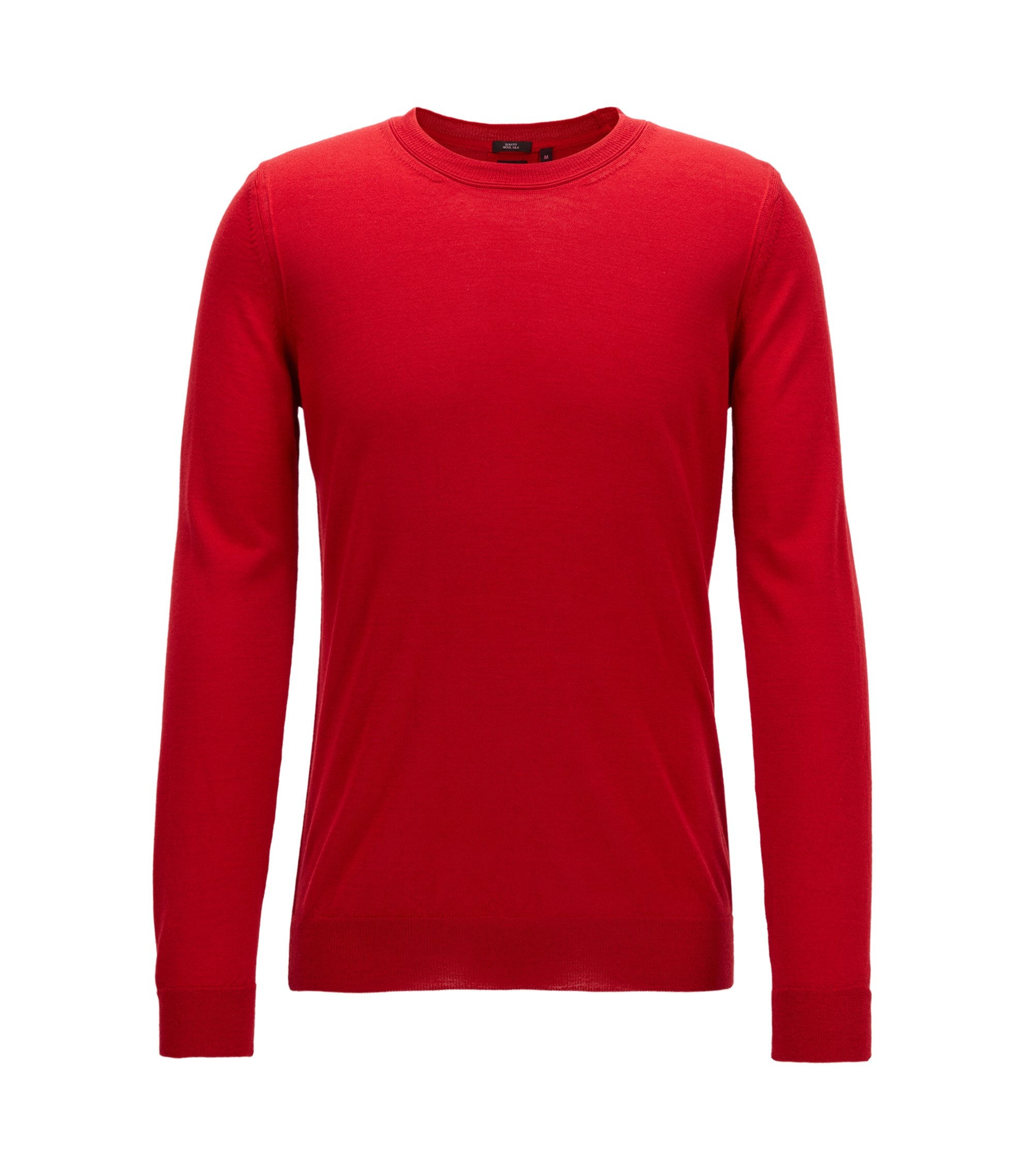 Virgin Wool-Silk Sweater | T-Ion, Red
