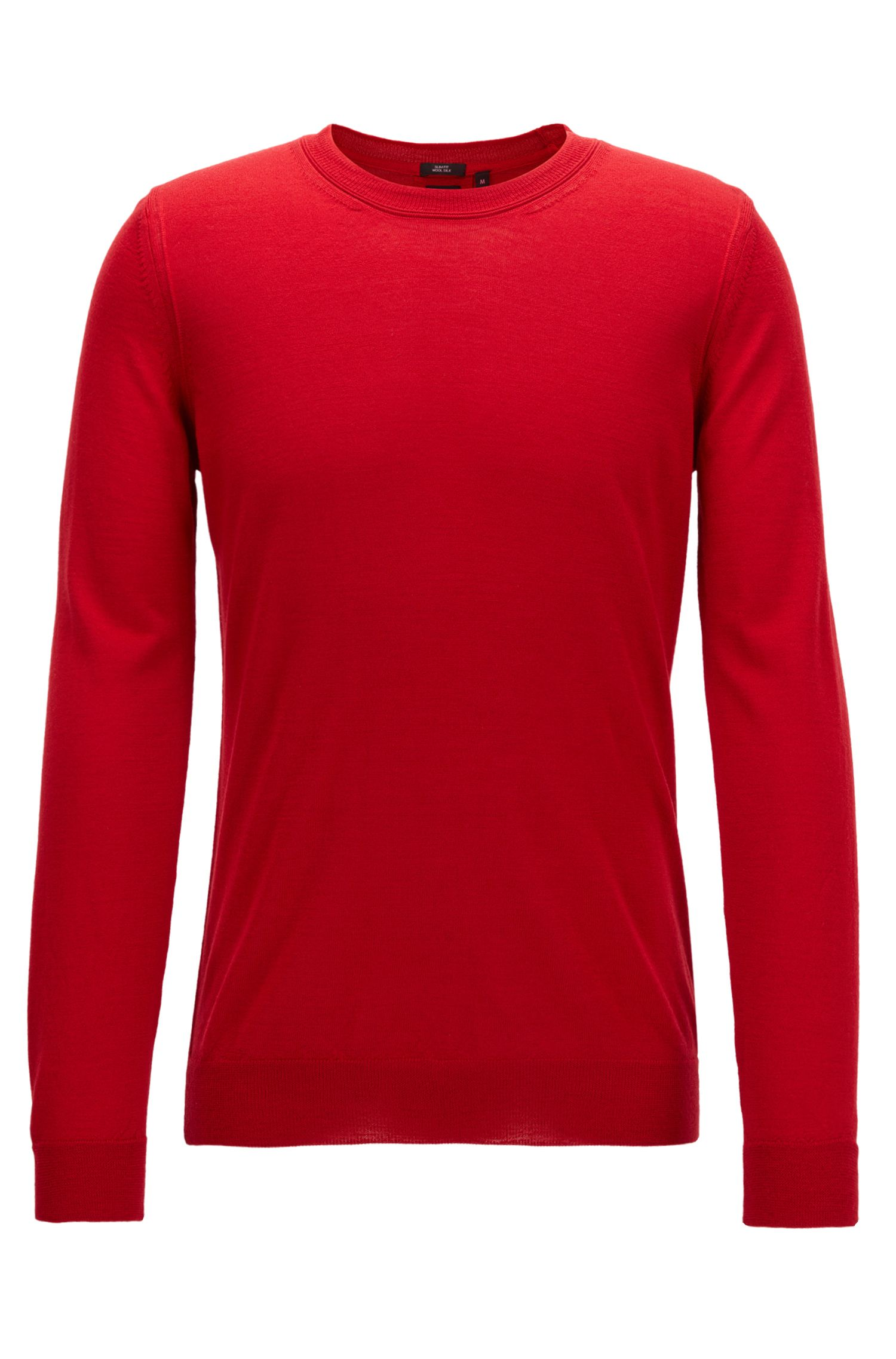 Virgin Wool-Silk Sweater | T-Ion