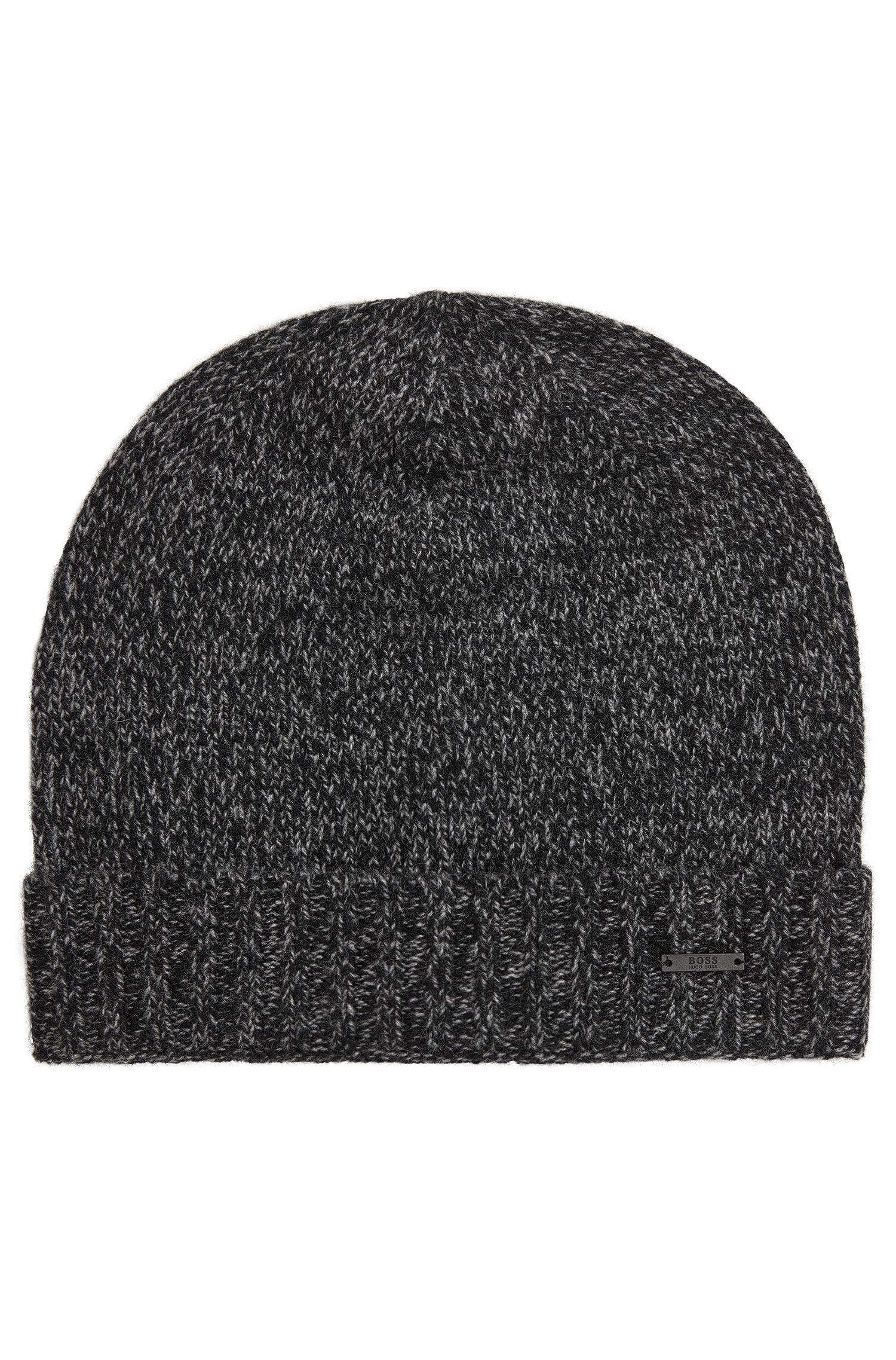 Beanie hat in mouliné cashmere