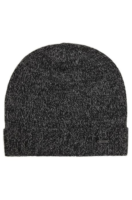 BOSS - Beanie hat in mouliné cashmere f08888fa2871