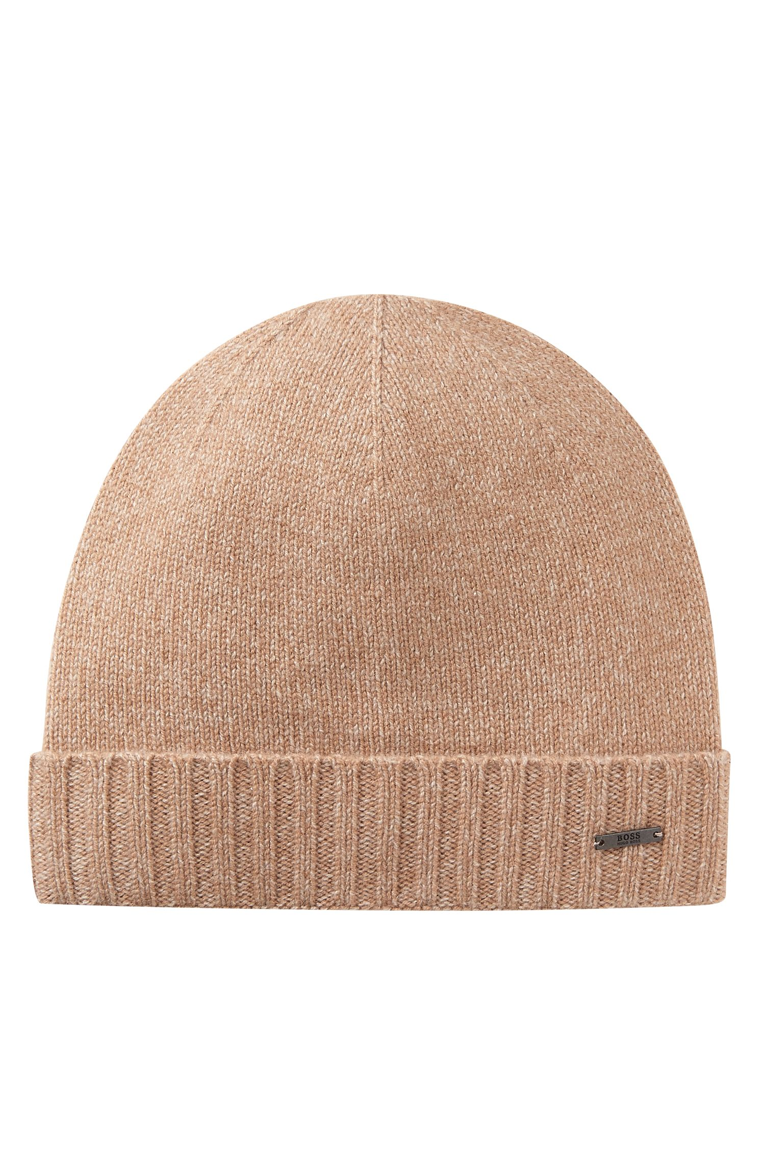 Beanie hat in mouliné cashmere