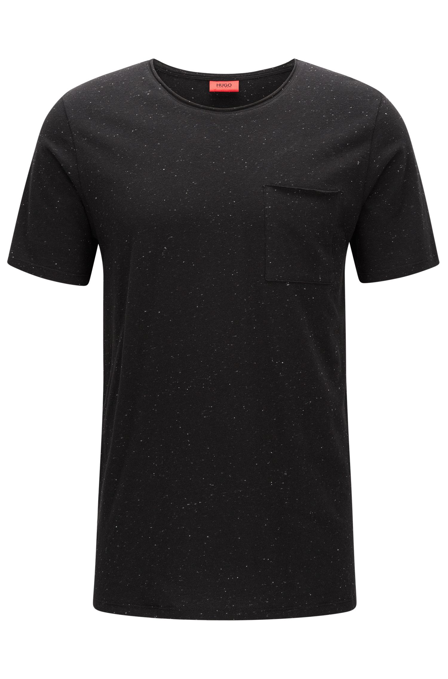 Stretch Cotton T-Shirt   Donely , Black