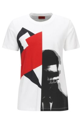 Cotton Graphic T-Shirt | Dwin, White