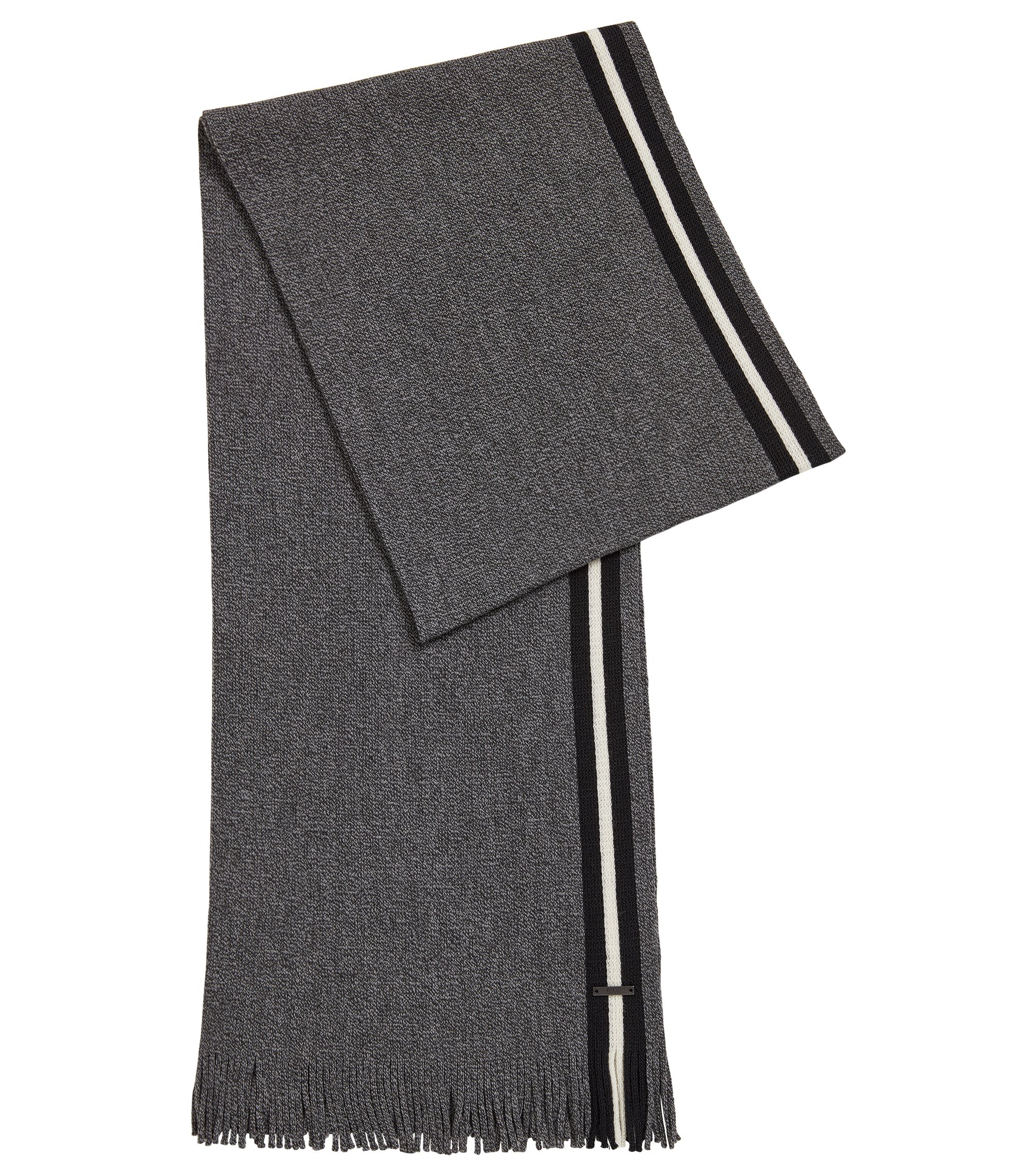 Virgin Wool Scarf | Fador, Black