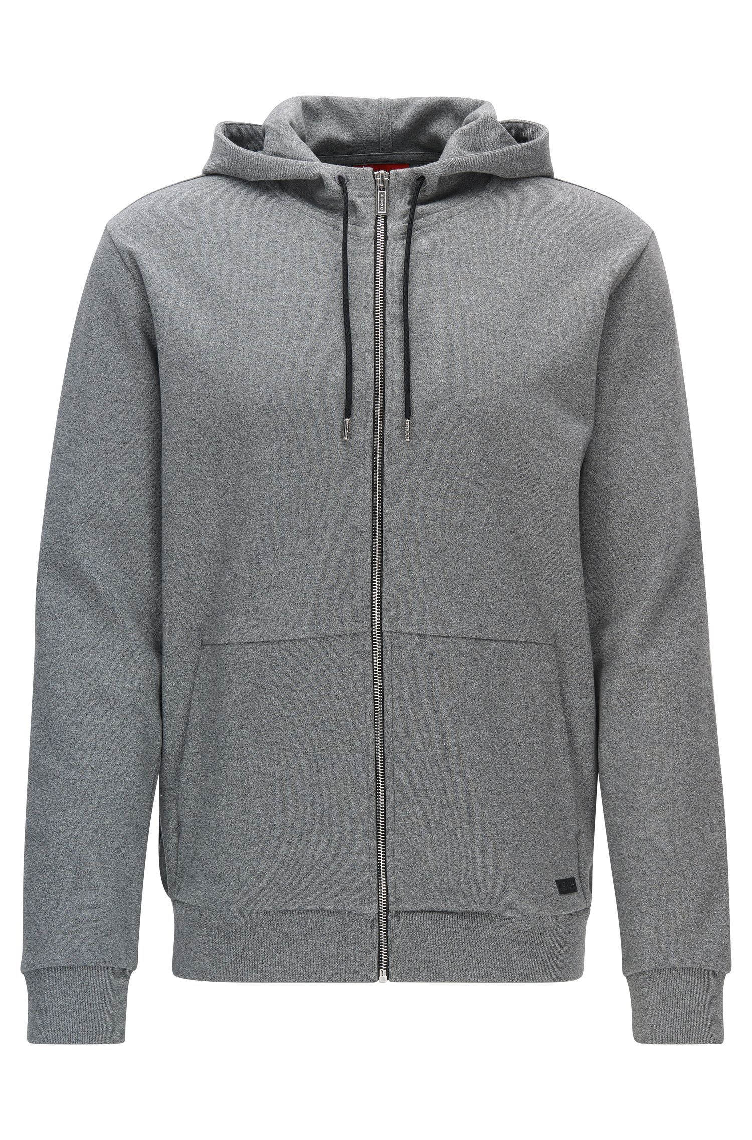 Cotton Full-Zip Hooded Sweater | Dattis