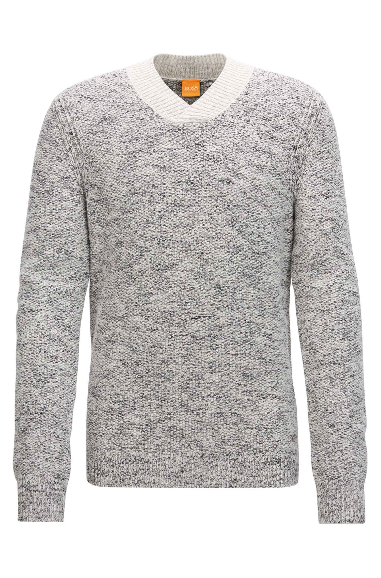 Mouline Knit Cotton Sweater | Amoulet