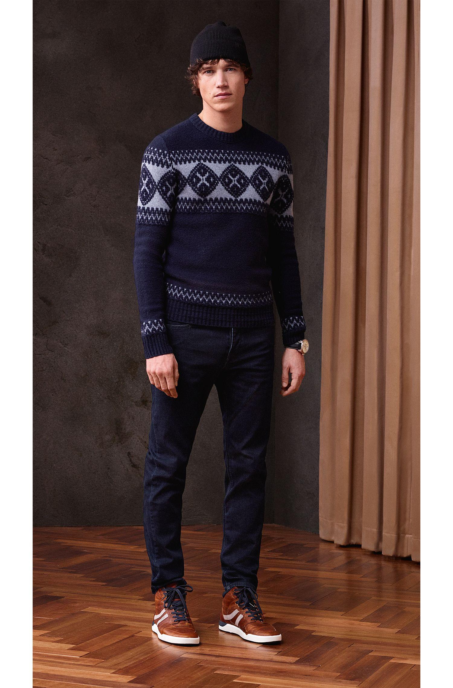 Wool Blend Fair Isle Sweater | Kionas