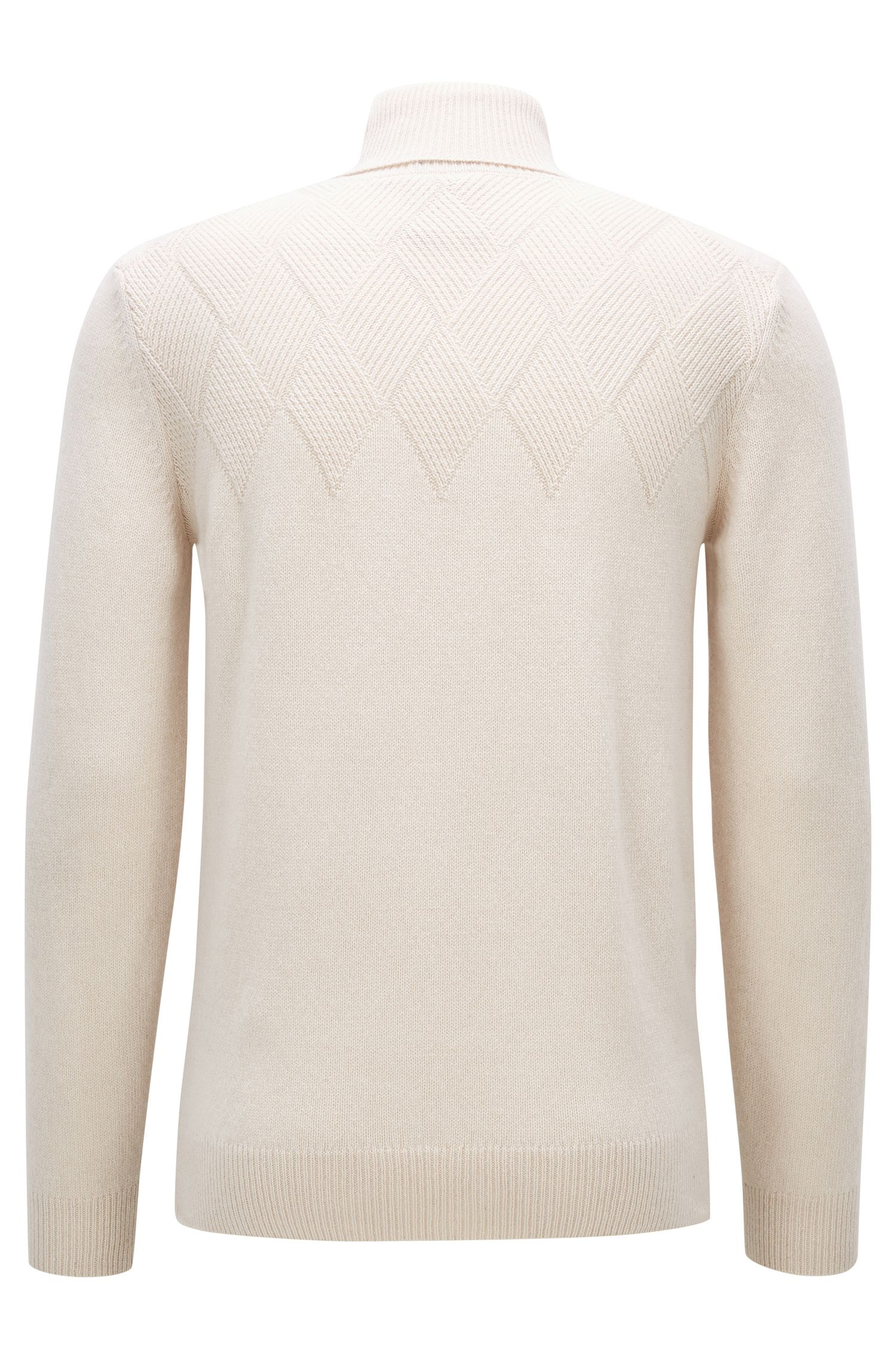 'T-Nuvolino' | Cashmere-Wool Turtleneck Sweater, Natural