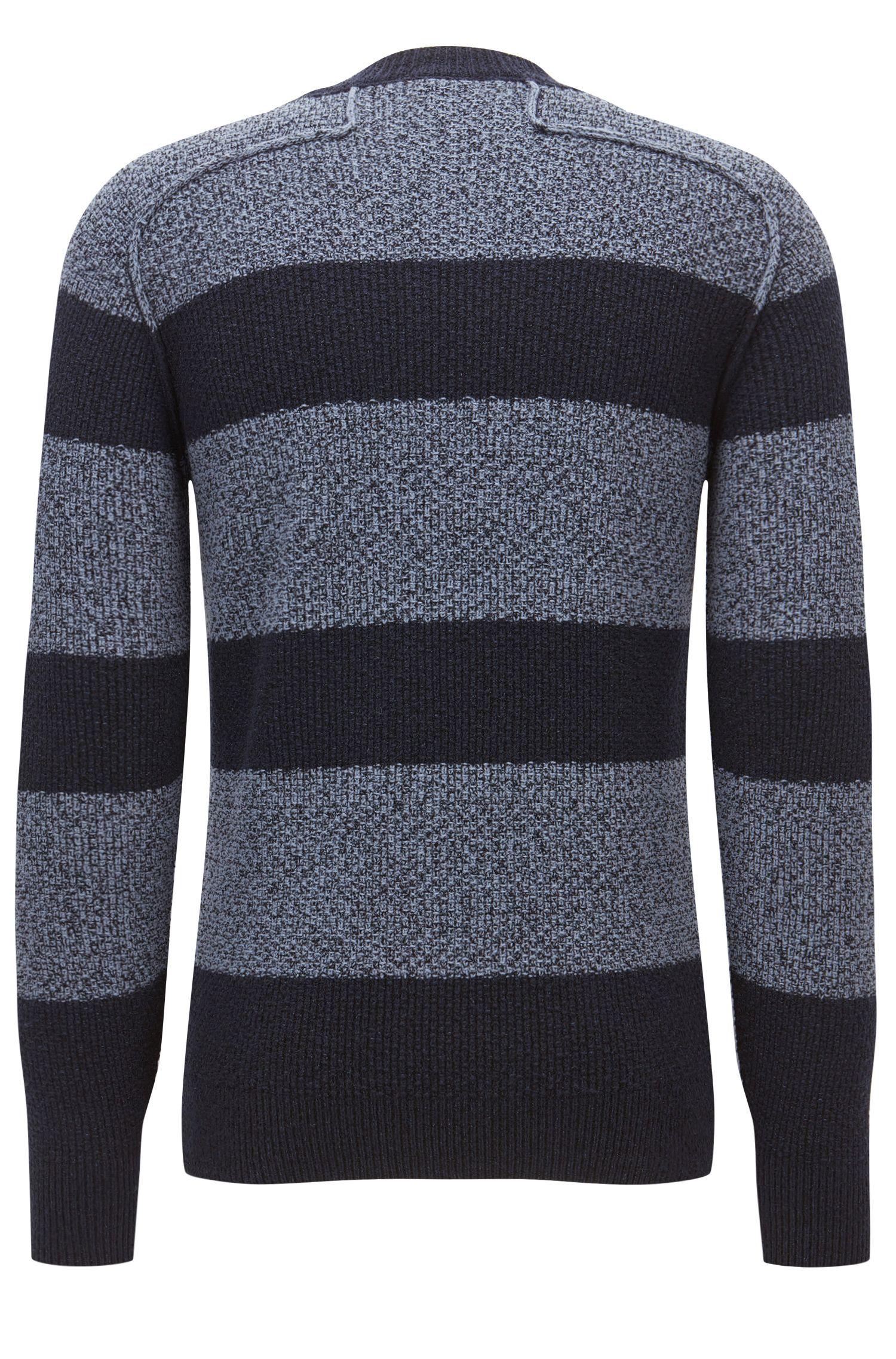 'Arbieri'   Striped Cotton-Wool Blend Sweater