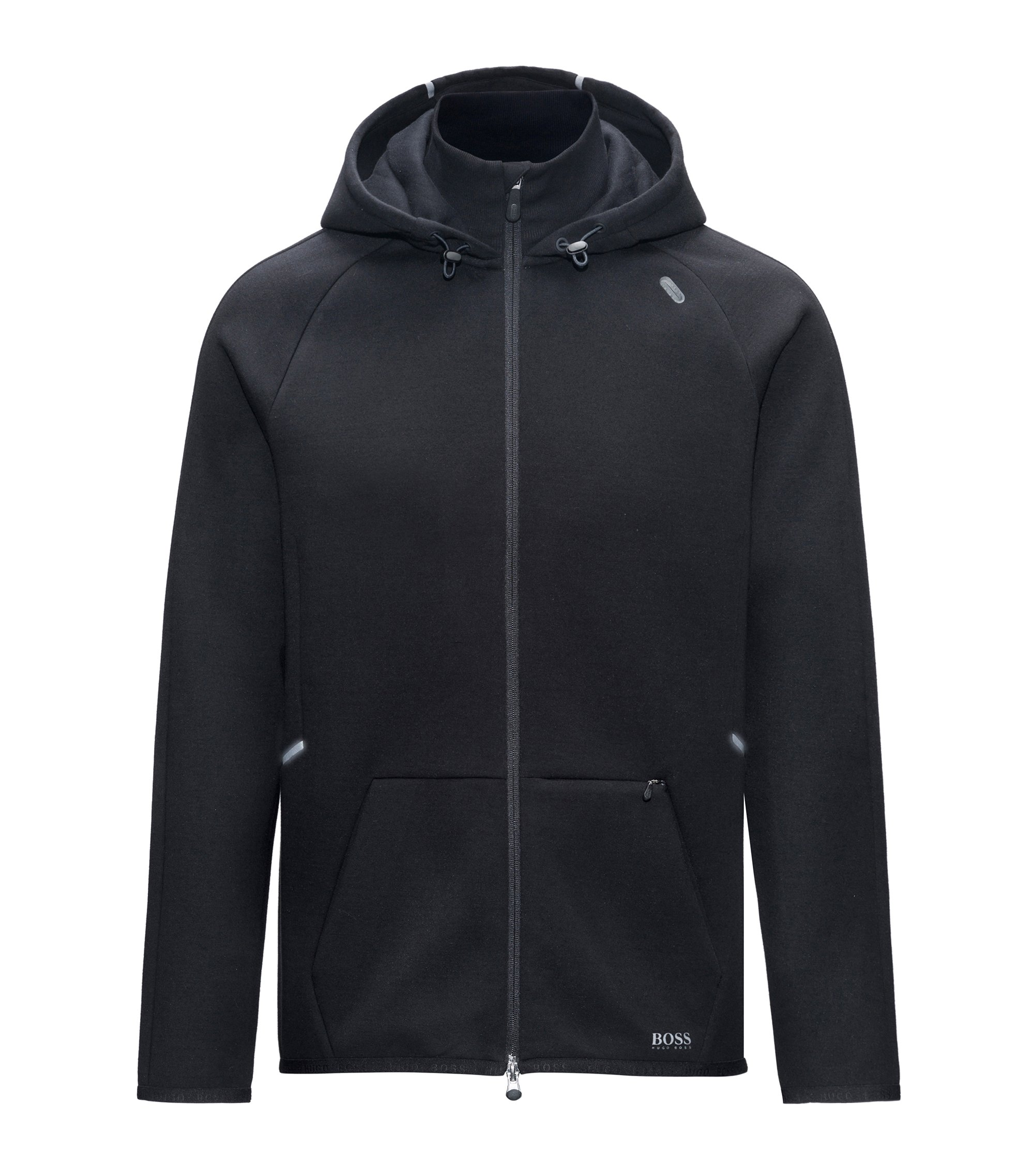 Stretch Cotton Travel Hoodie | Sweek, Black
