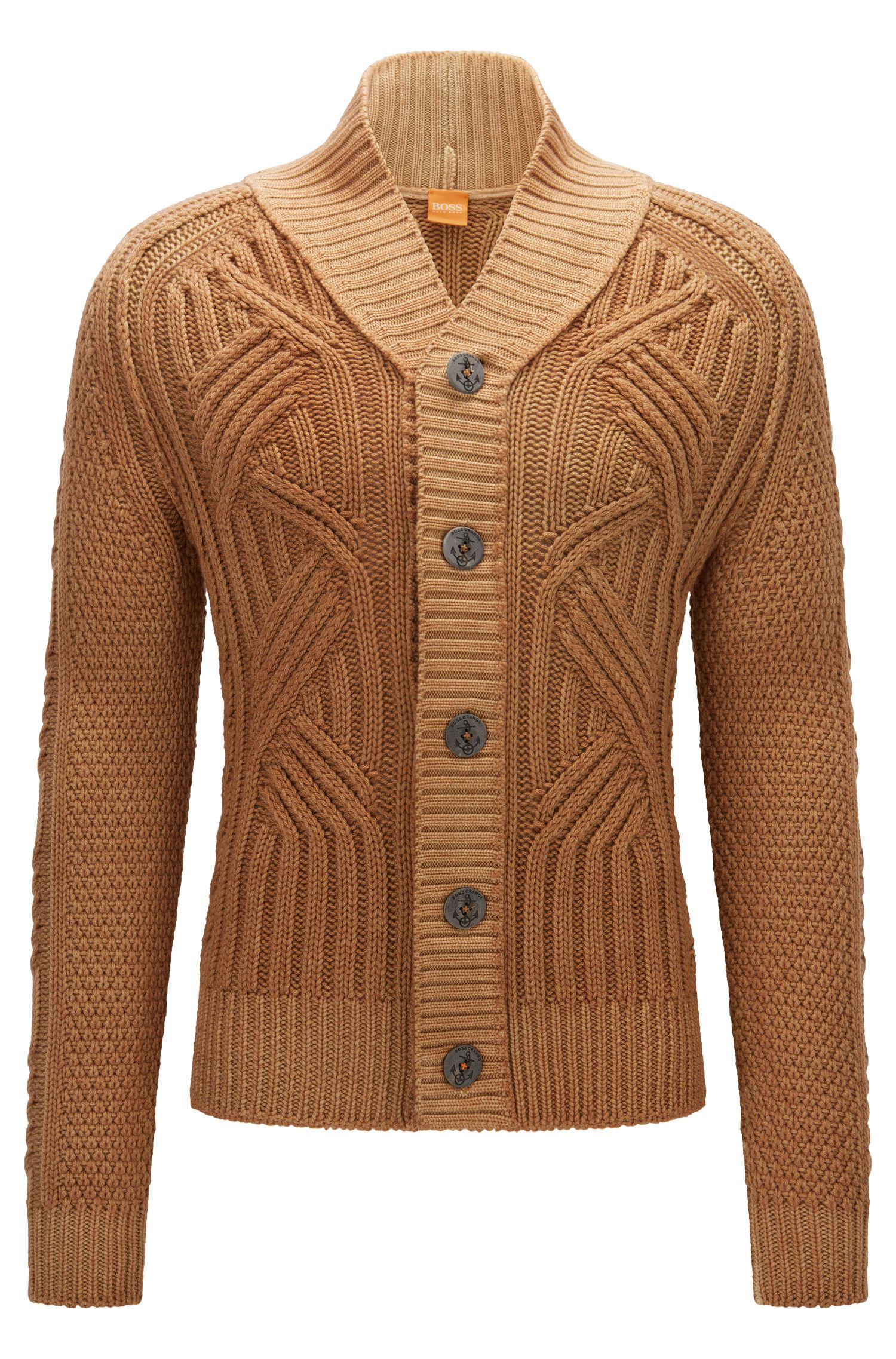 Cable Knit Virgin Wool Cardigan | Kalamos