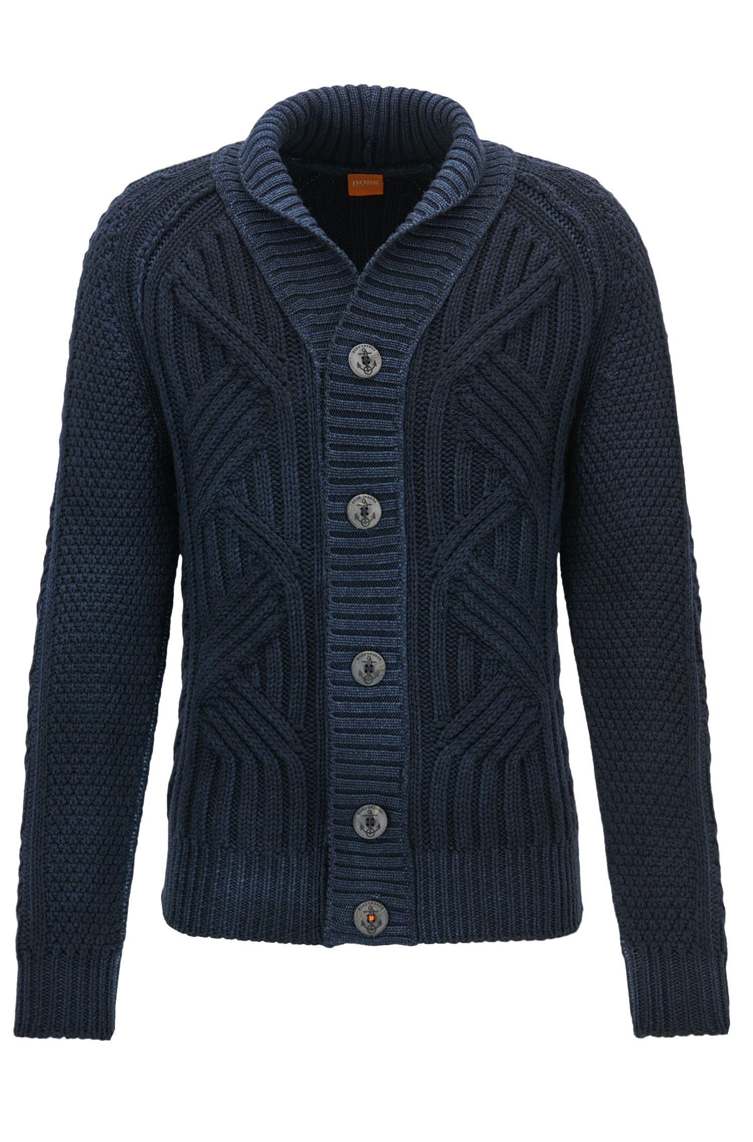 Cable Knit Virgin Wool Cardigan | Kalamos