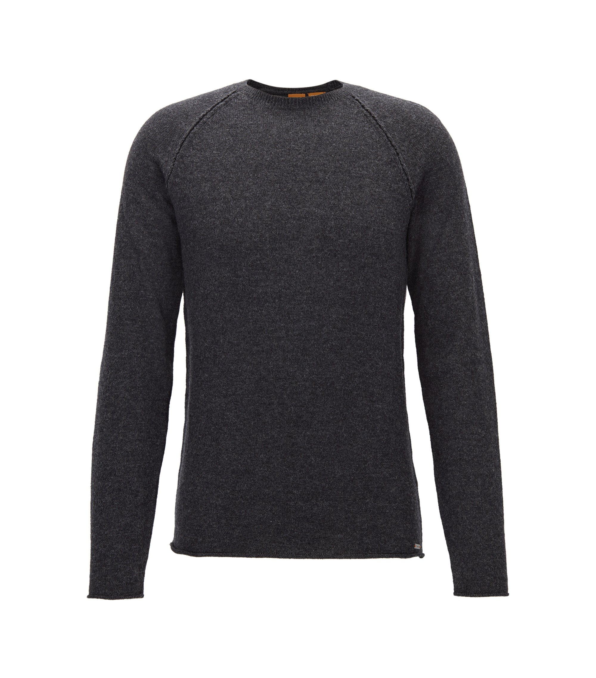 Wool-Cotton Blend Sweater | Kohedge, Dark Grey