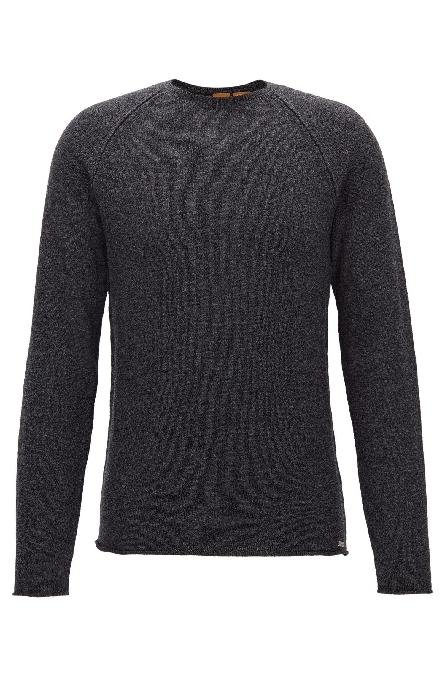 Wool-Cotton Blend Sweater | Kohedge, Dark Grey